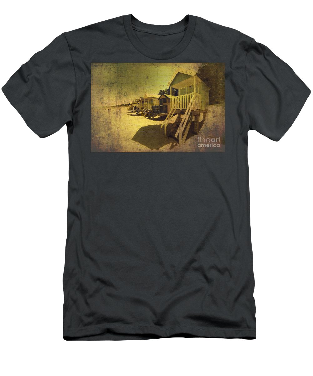 Beach Men's T-Shirt (Athletic Fit) featuring the photograph Grunge Hutz by Rob Hawkins