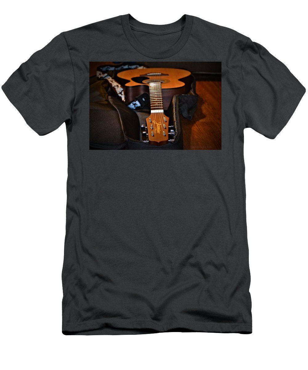 Guitar Men's T-Shirt (Athletic Fit) featuring the photograph Guitar by Tara Potts