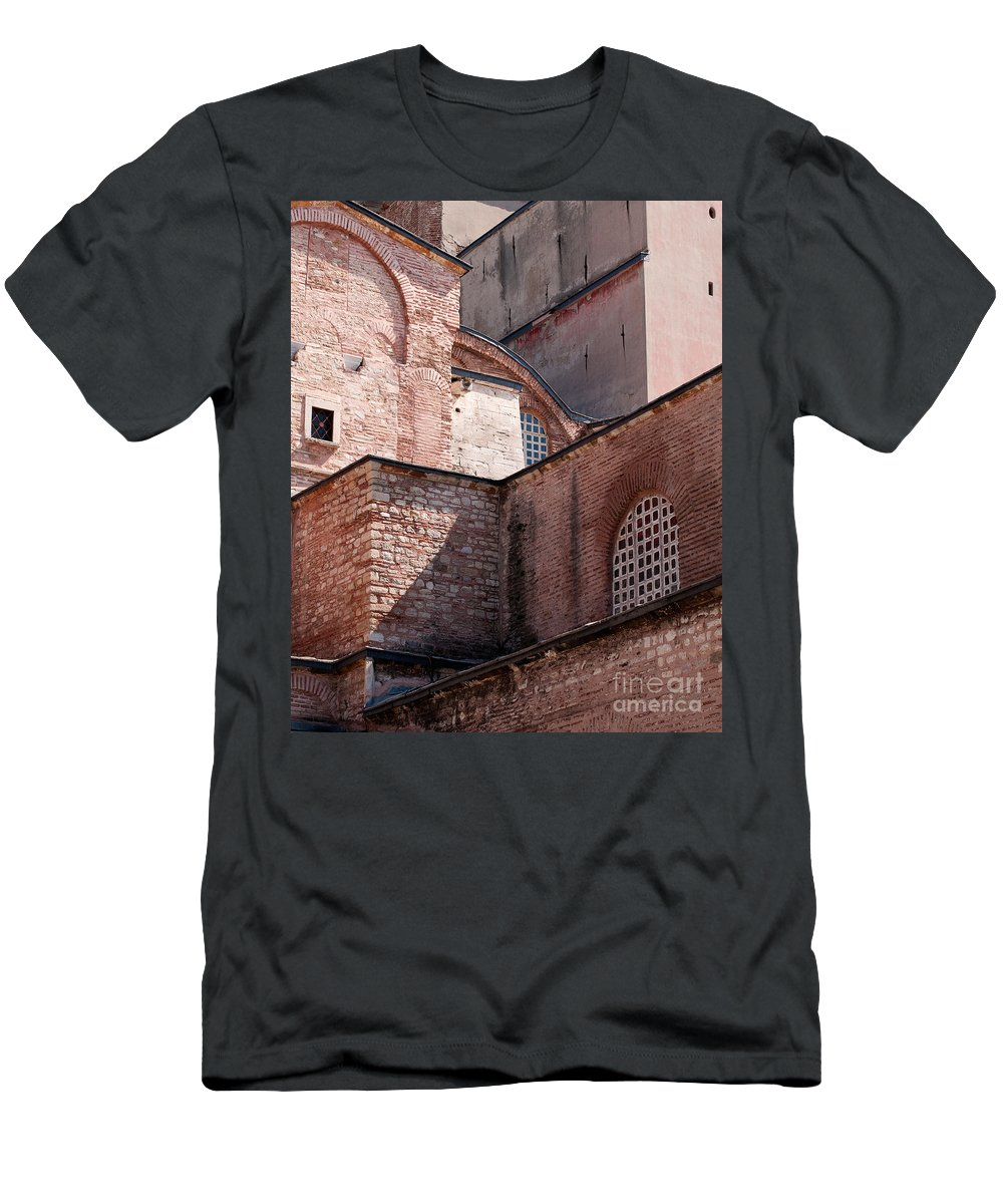 Istanbul Men's T-Shirt (Athletic Fit) featuring the photograph Hagia Sophia Walls 02 by Rick Piper Photography