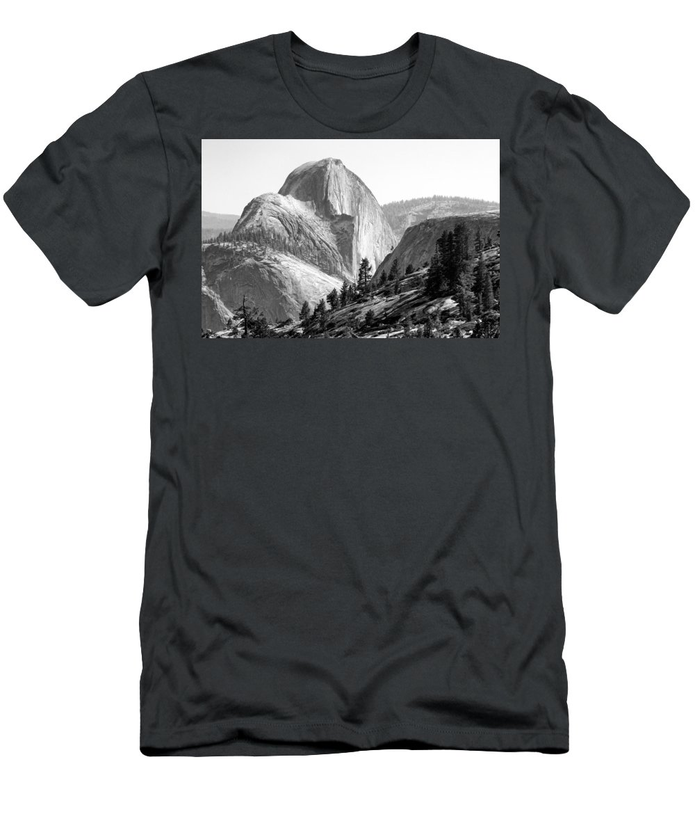 Landscape Men's T-Shirt (Athletic Fit) featuring the photograph Half Dome North Side by David Beebe