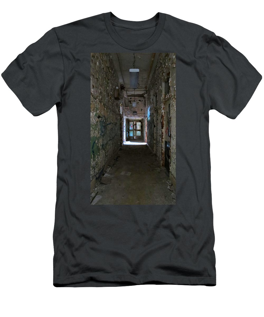 Heart Men's T-Shirt (Athletic Fit) featuring the photograph Hall Of Unknown by Art Dingo