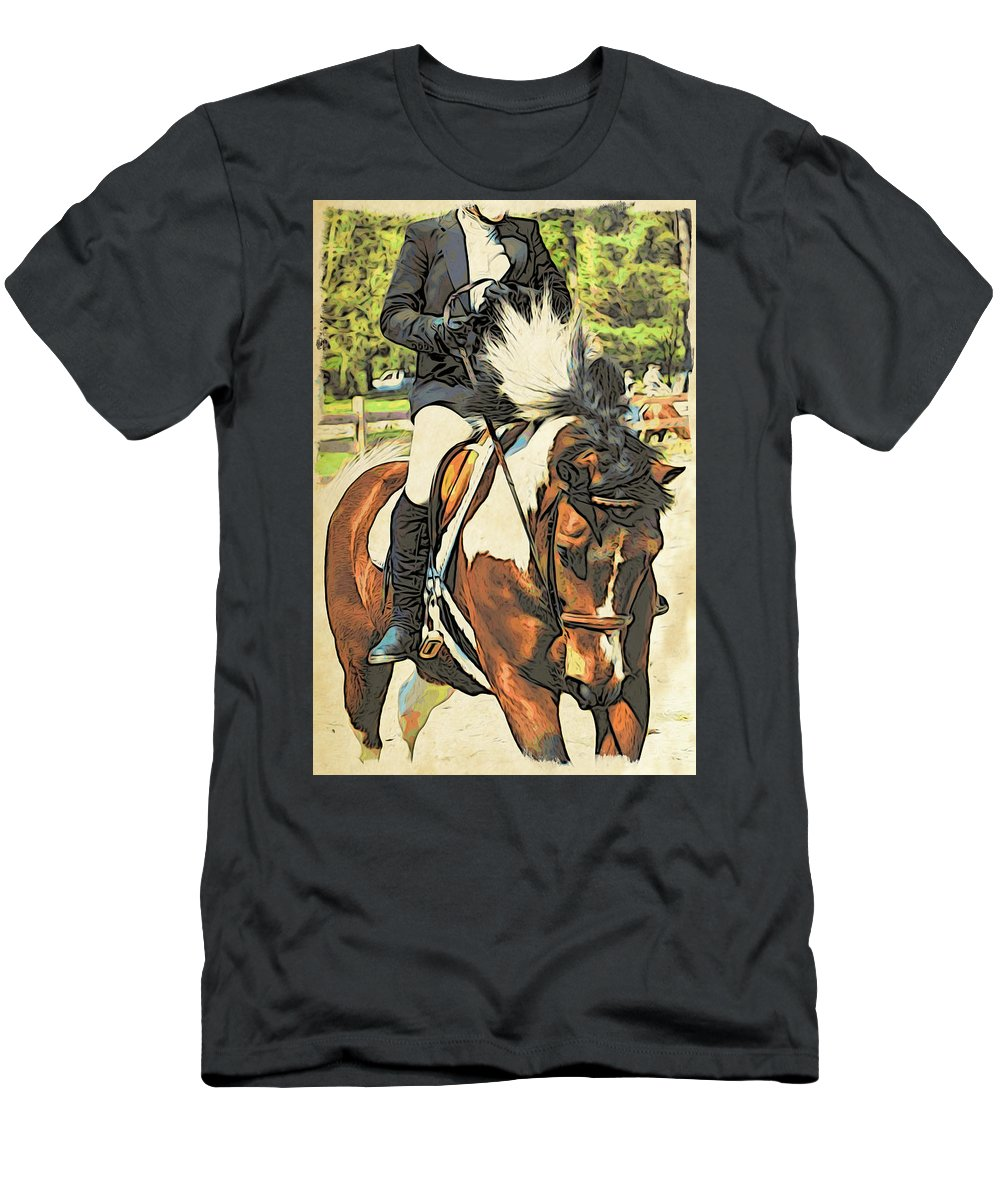 Horse Men's T-Shirt (Athletic Fit) featuring the photograph Hang On Tight To Your Painted Horse by Alice Gipson