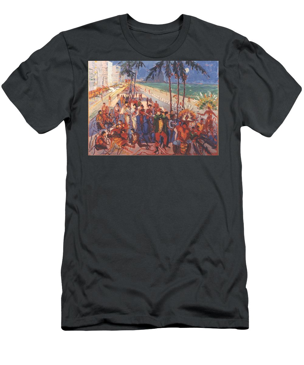 Rio De Janeiro Men's T-Shirt (Athletic Fit) featuring the painting Happening by Walter Casaravilla