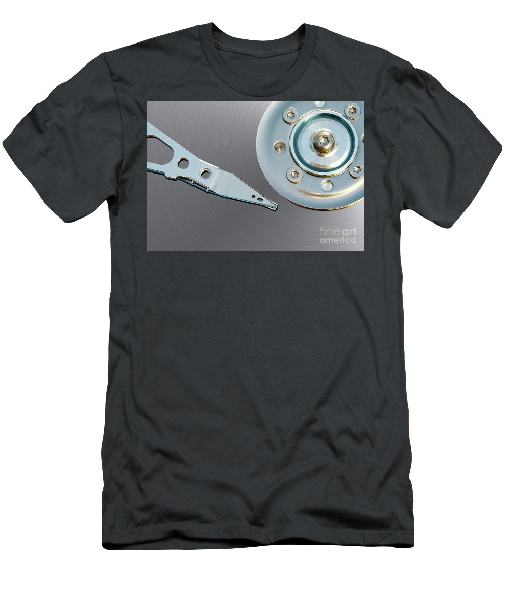 Computer Men's T-Shirt (Athletic Fit) featuring the photograph Hard Disc by Michal Boubin