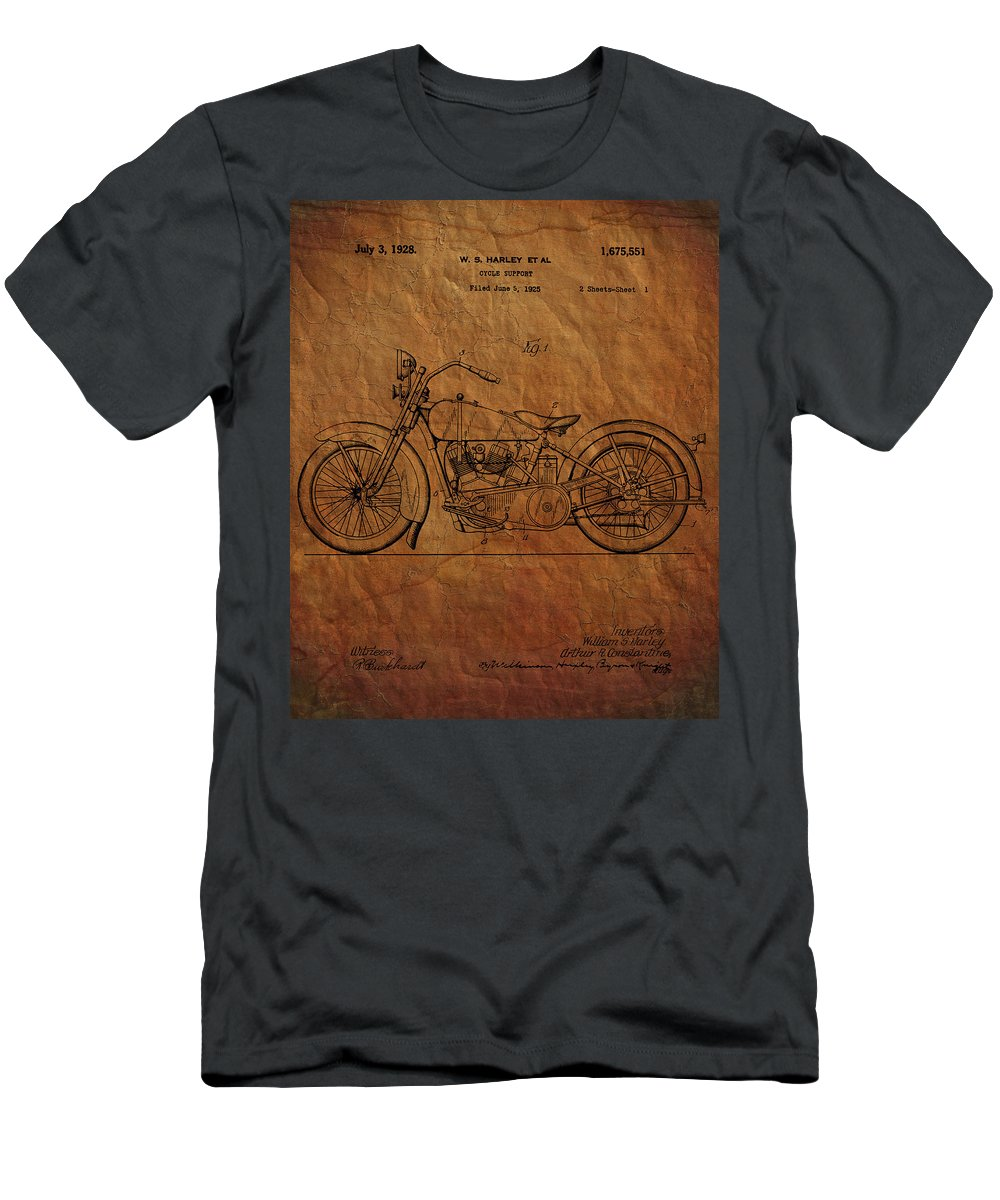Harley Davidson Men's T-Shirt (Athletic Fit) featuring the photograph Harley Davidson Patent by Chris Smith