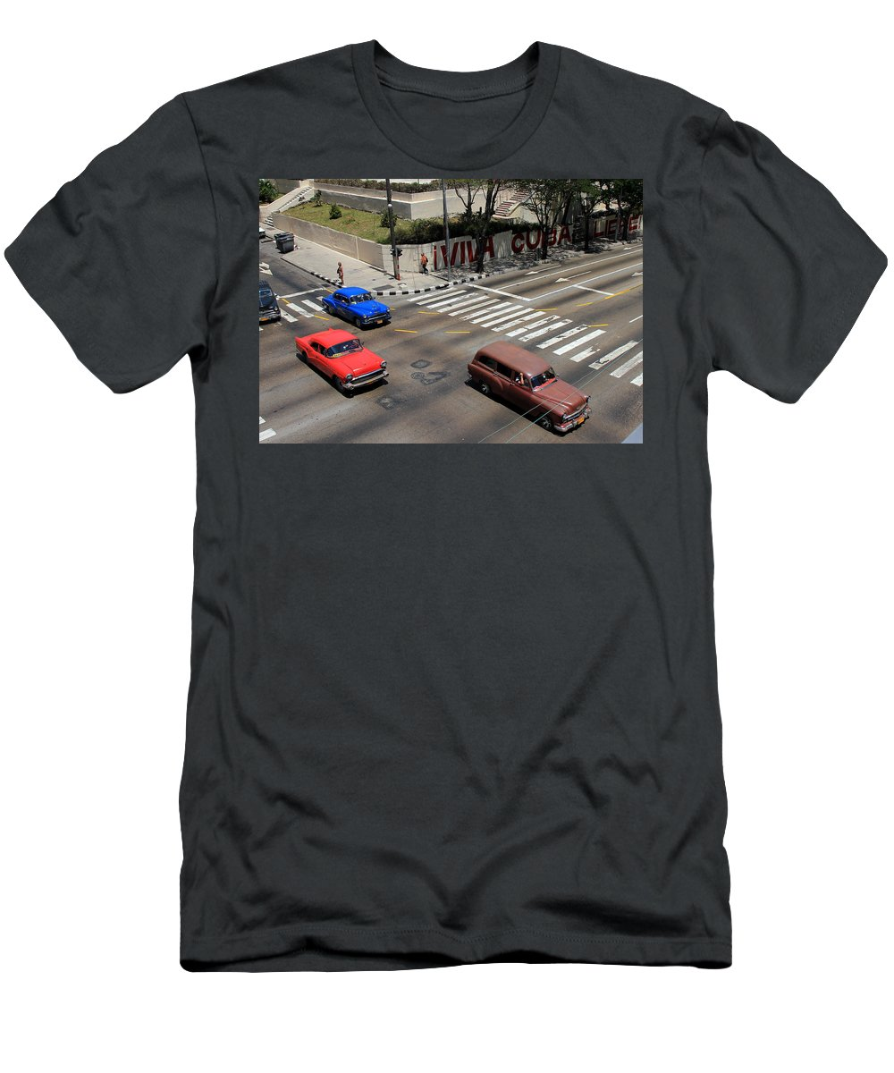 Havana Men's T-Shirt (Athletic Fit) featuring the photograph Havana 28 by Andrew Fare