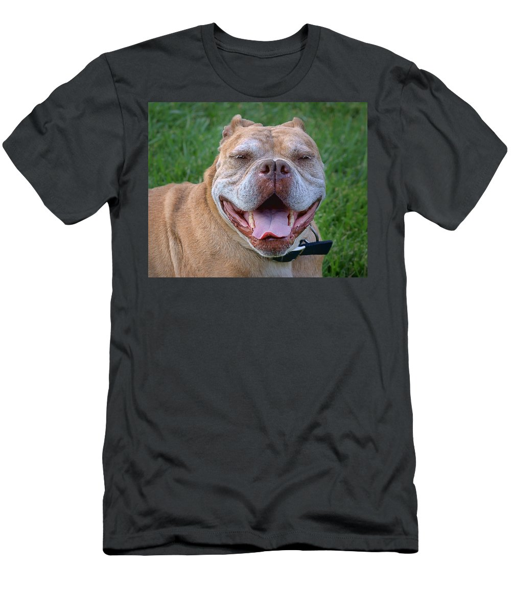 Purebred Men's T-Shirt (Athletic Fit) featuring the photograph Havana's Grin by Nikolyn McDonald