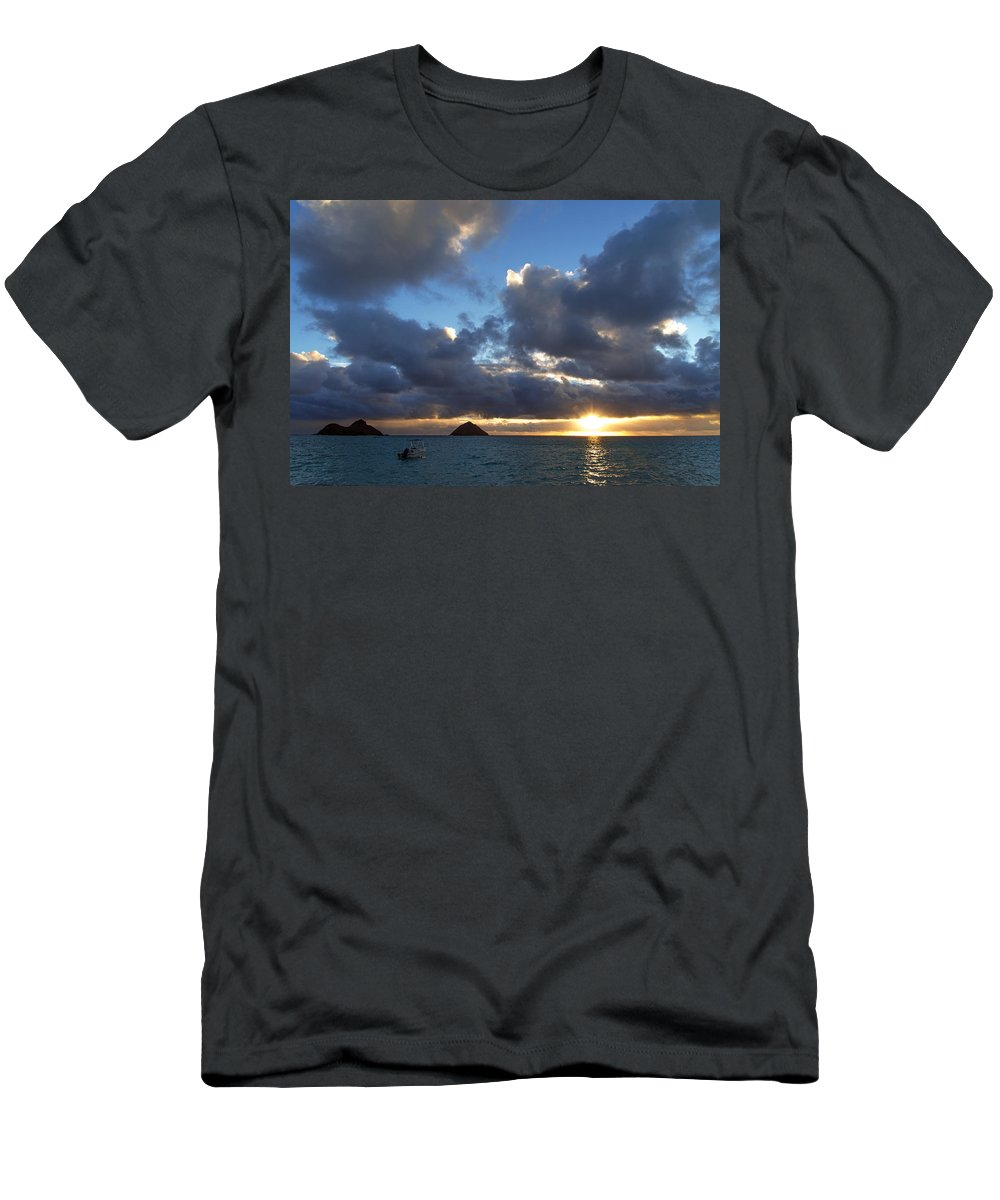 Hawaii Men's T-Shirt (Athletic Fit) featuring the photograph Hawaii Sunrise by Dustin LeFevre