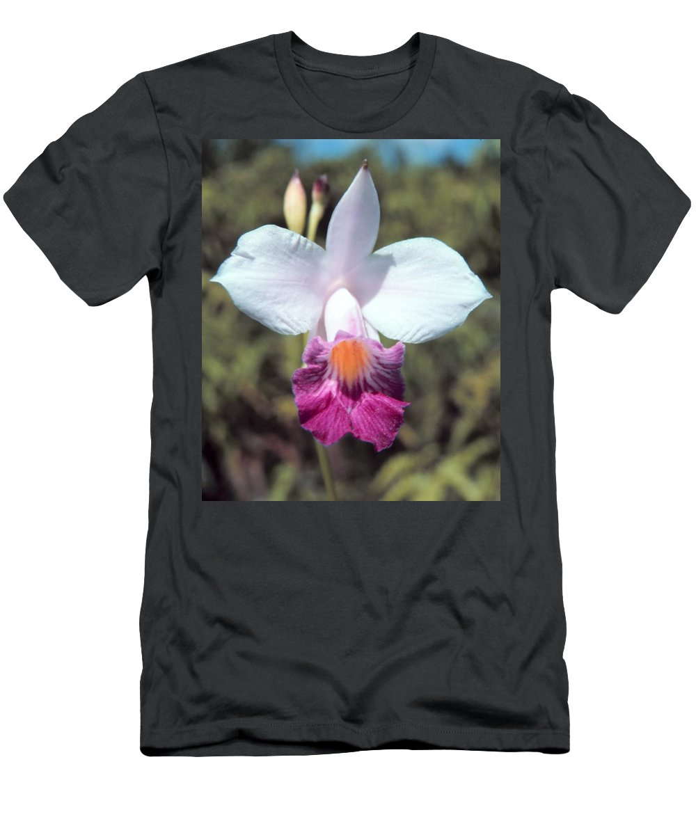 Hawaiian Orchid Men's T-Shirt (Athletic Fit) featuring the digital art Hawaiian Orchid by John Bortniak