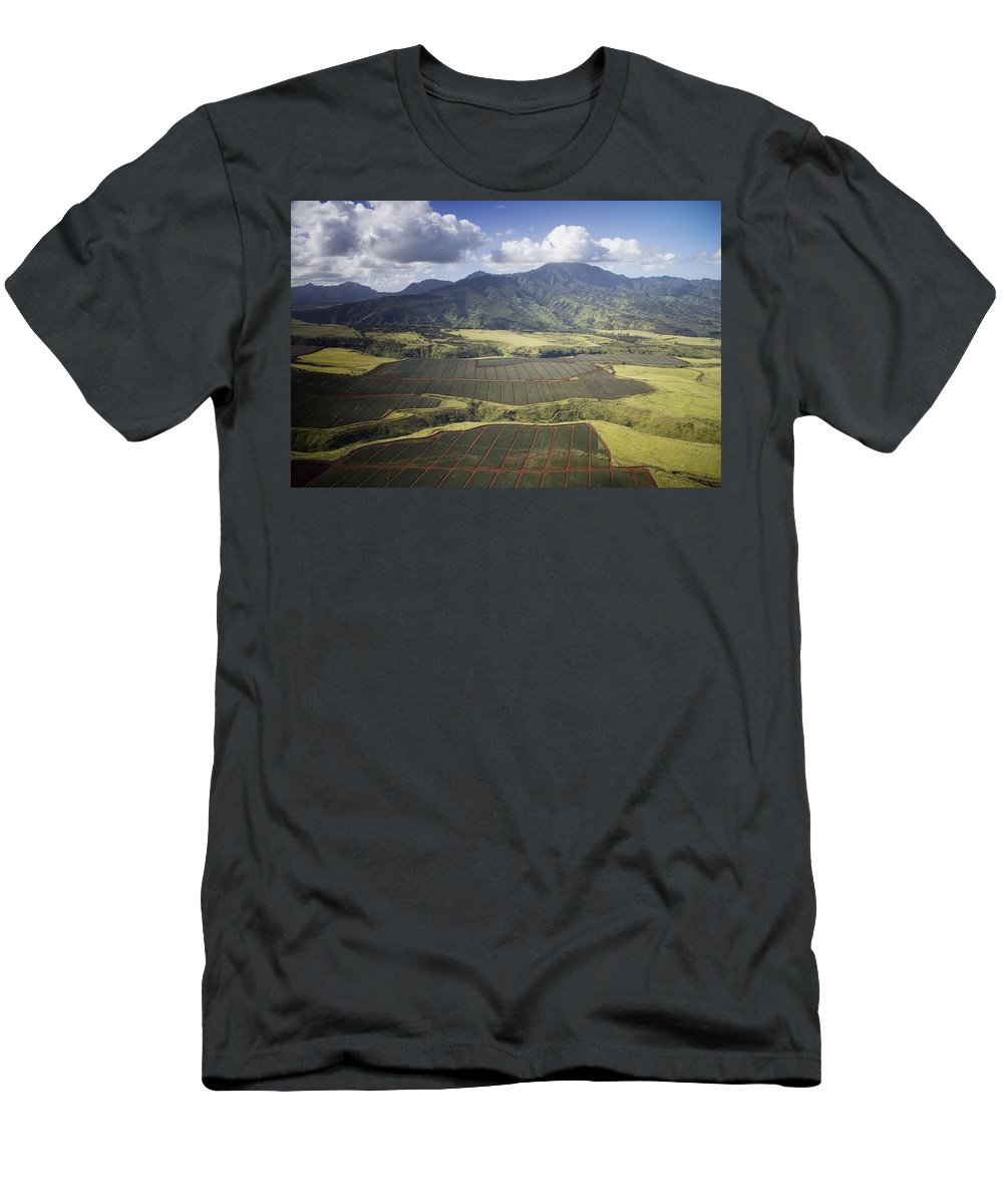 Carol Highsmith Men's T-Shirt (Athletic Fit) featuring the digital art Hawaiian Pineapple Fields by Carol Highsmith