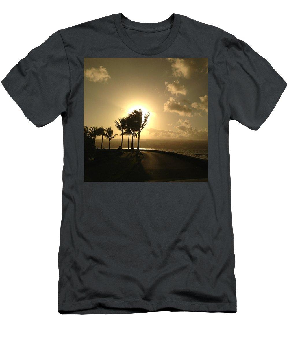 Hawaiian Landscape Men's T-Shirt (Athletic Fit) featuring the digital art Hawaiian Landscape 8 by D Preble