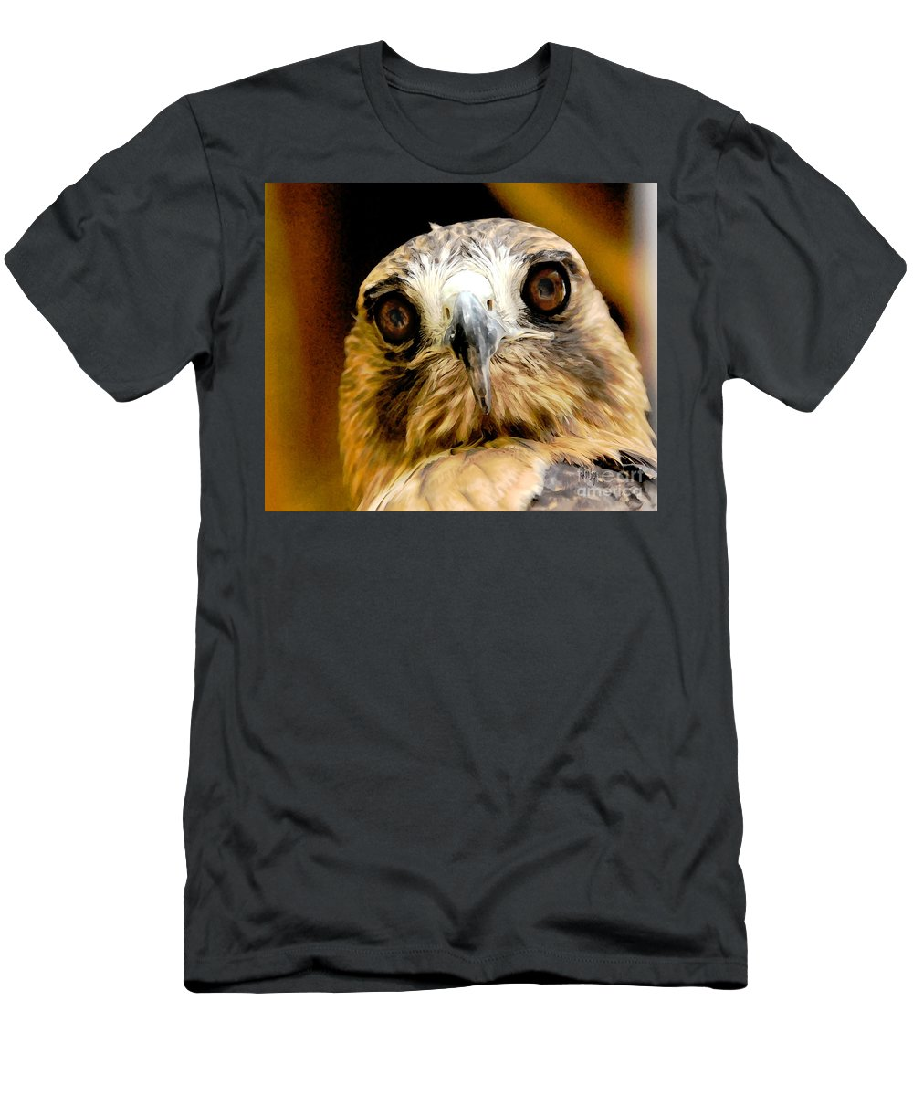 Hawk Men's T-Shirt (Athletic Fit) featuring the photograph Hawkeye by Lois Bryan