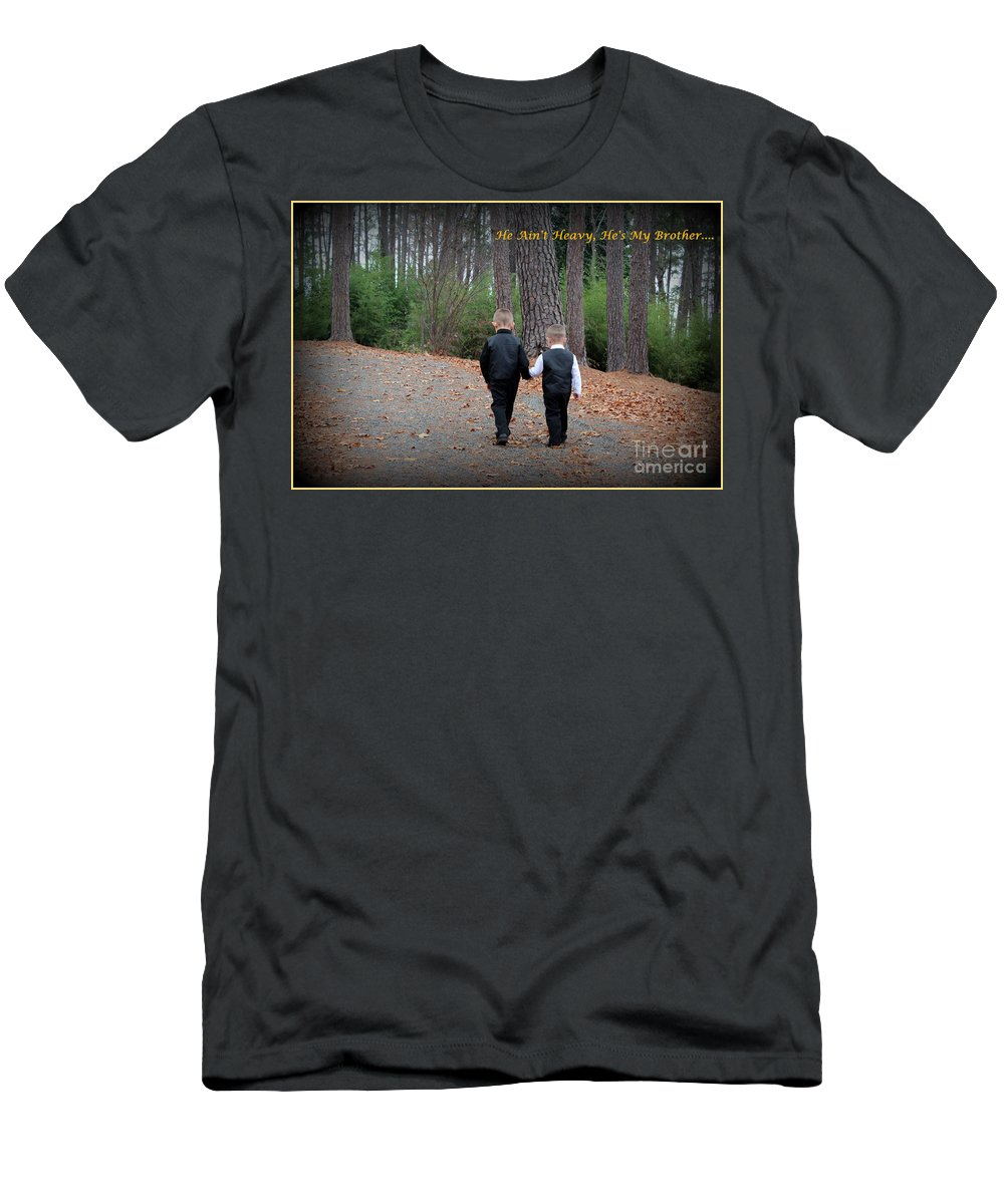 Hollies Song Men's T-Shirt (Athletic Fit) featuring the photograph He Aint Heavy/ Hes My Brother by Kathy White