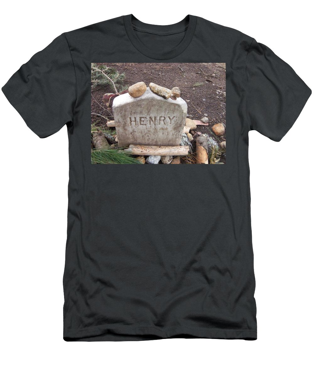 Thoreau Men's T-Shirt (Athletic Fit) featuring the photograph Henry Thoreau by Two Bridges North