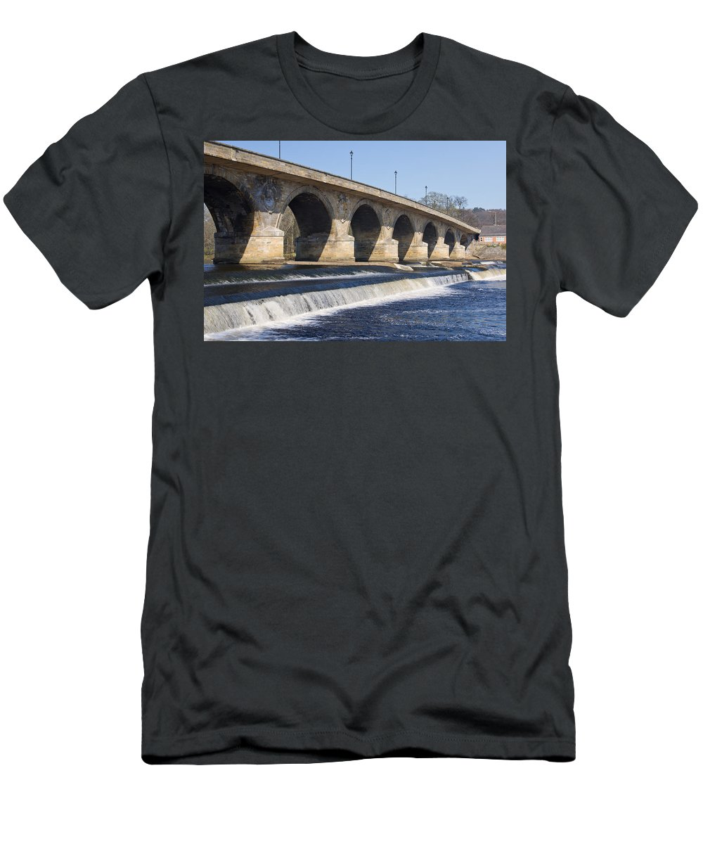 Northumberland Men's T-Shirt (Athletic Fit) featuring the photograph Hexham Bridge by David Head