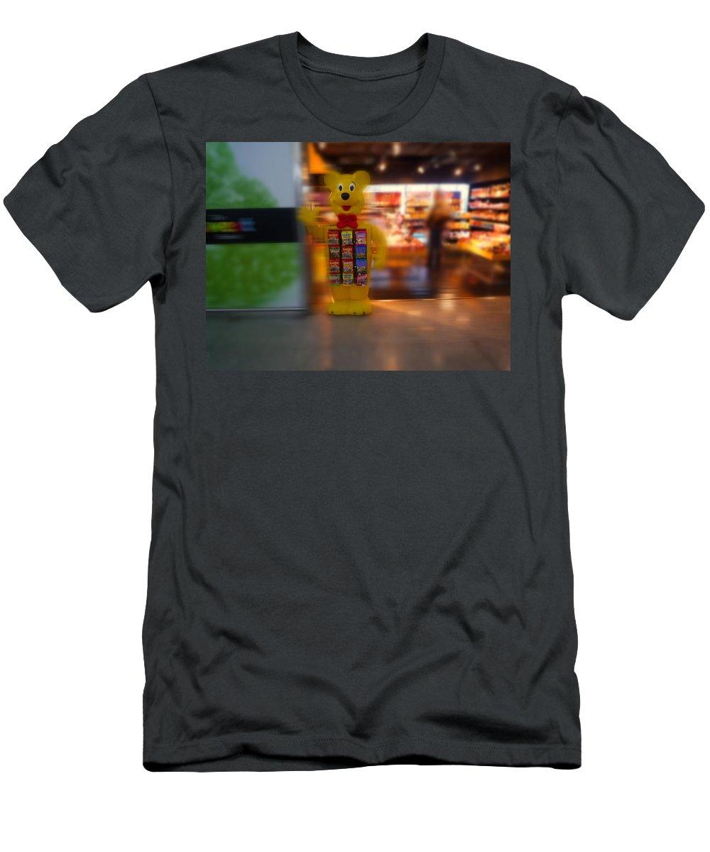 Bear T-Shirt featuring the painting Hi Bear by Charles Stuart