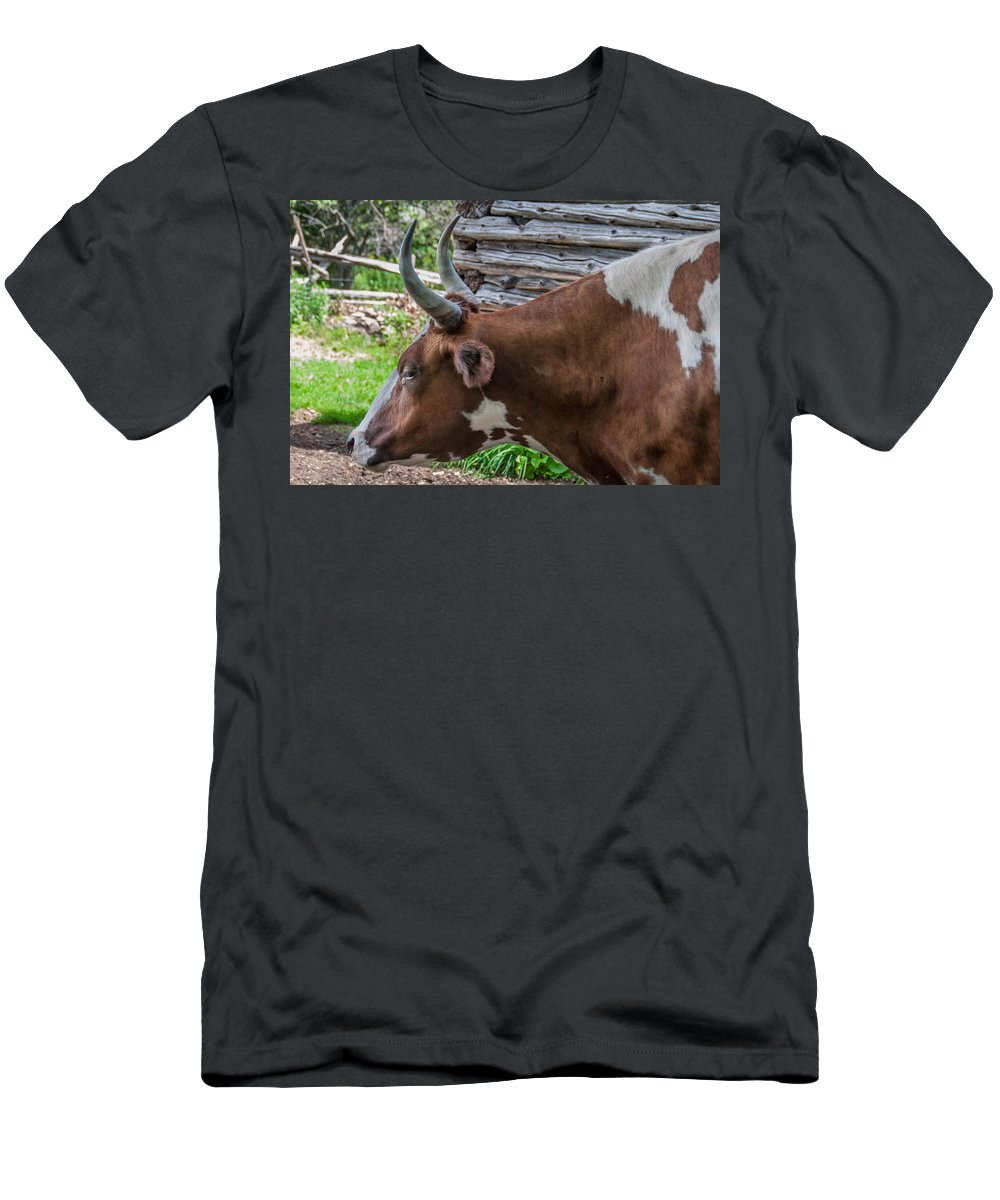 Guy Whiteley Photography Men's T-Shirt (Athletic Fit) featuring the photograph Hi-rise Handlebars by Guy Whiteley