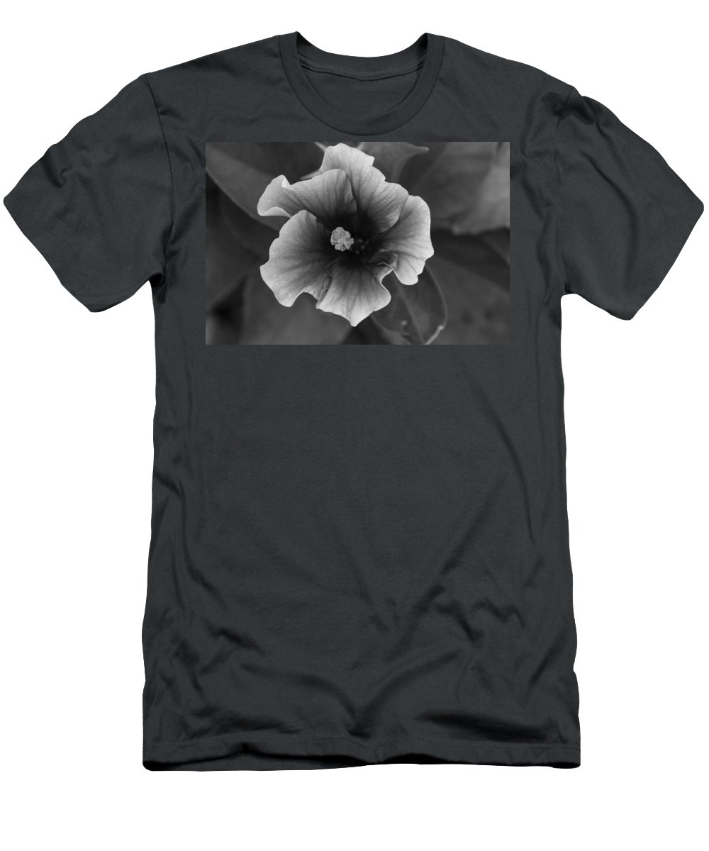 John Daly Photography Men's T-Shirt (Athletic Fit) featuring the photograph Hibiscus In Black And White by John Daly