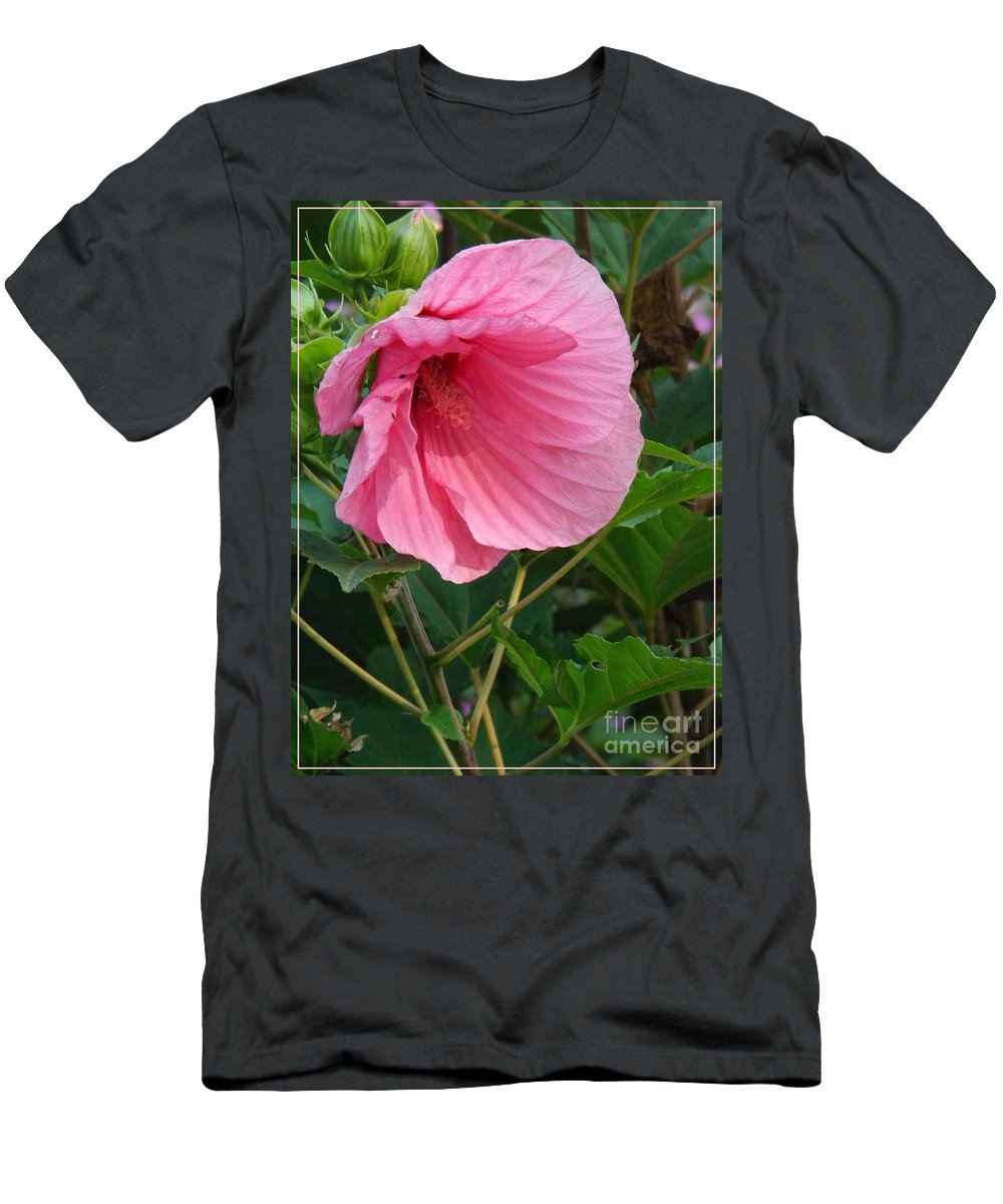 Flower Men's T-Shirt (Athletic Fit) featuring the photograph Hibiscus Profile by Sara Raber