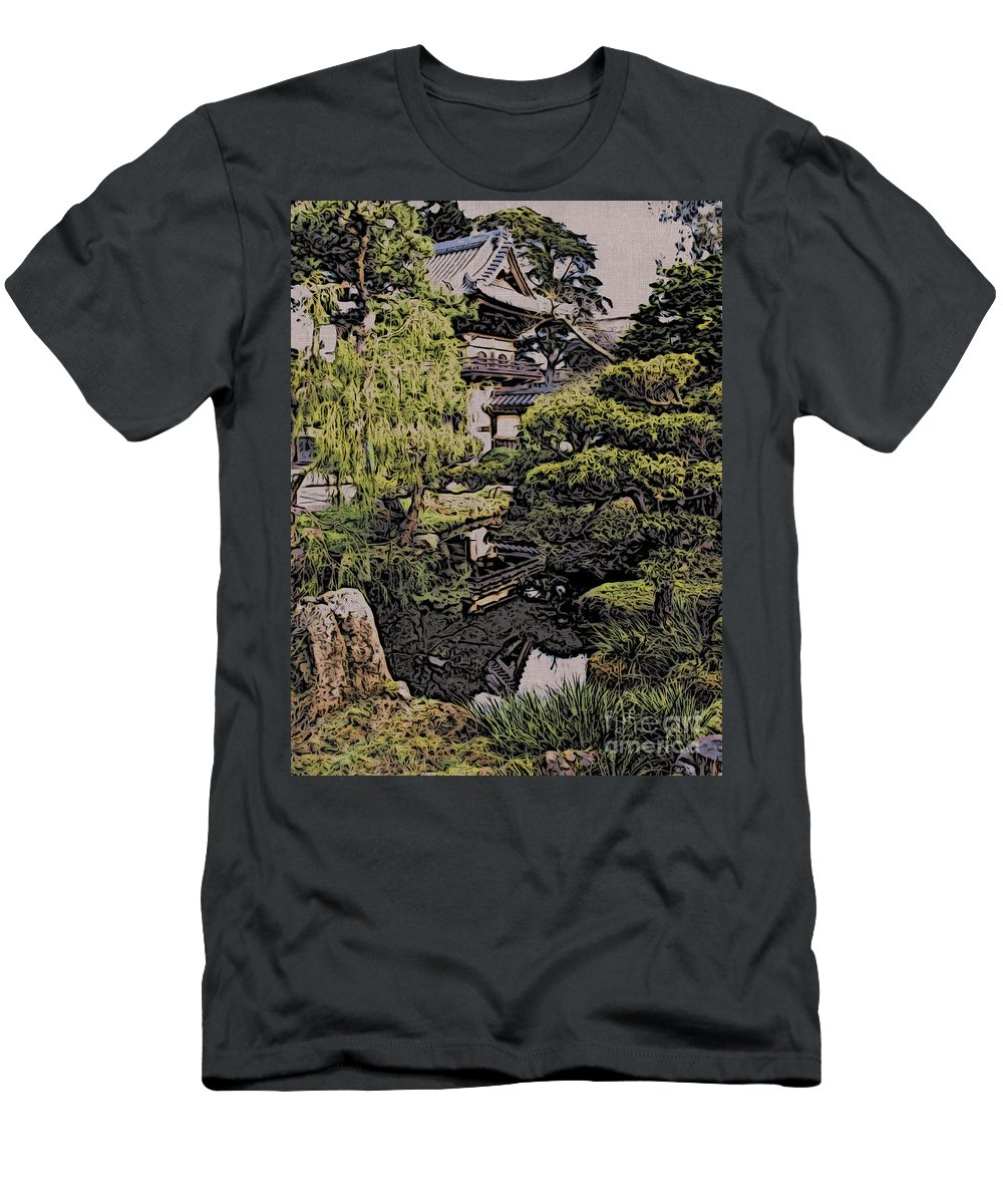 Pagoda Men's T-Shirt (Athletic Fit) featuring the photograph Hidden Pagoda by Jacklyn Duryea Fraizer