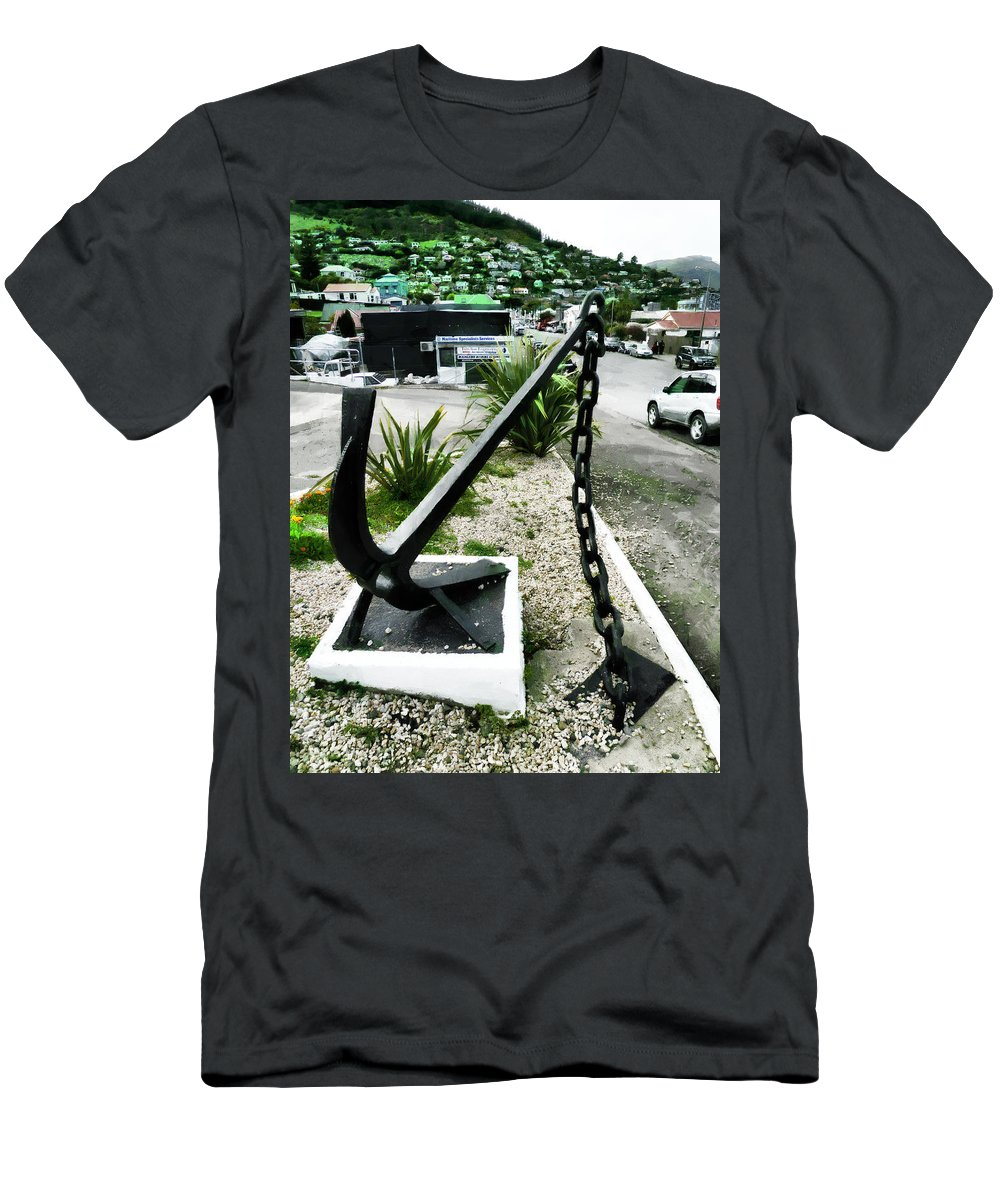 Anchor Men's T-Shirt (Athletic Fit) featuring the photograph High And Dry by Steve Taylor