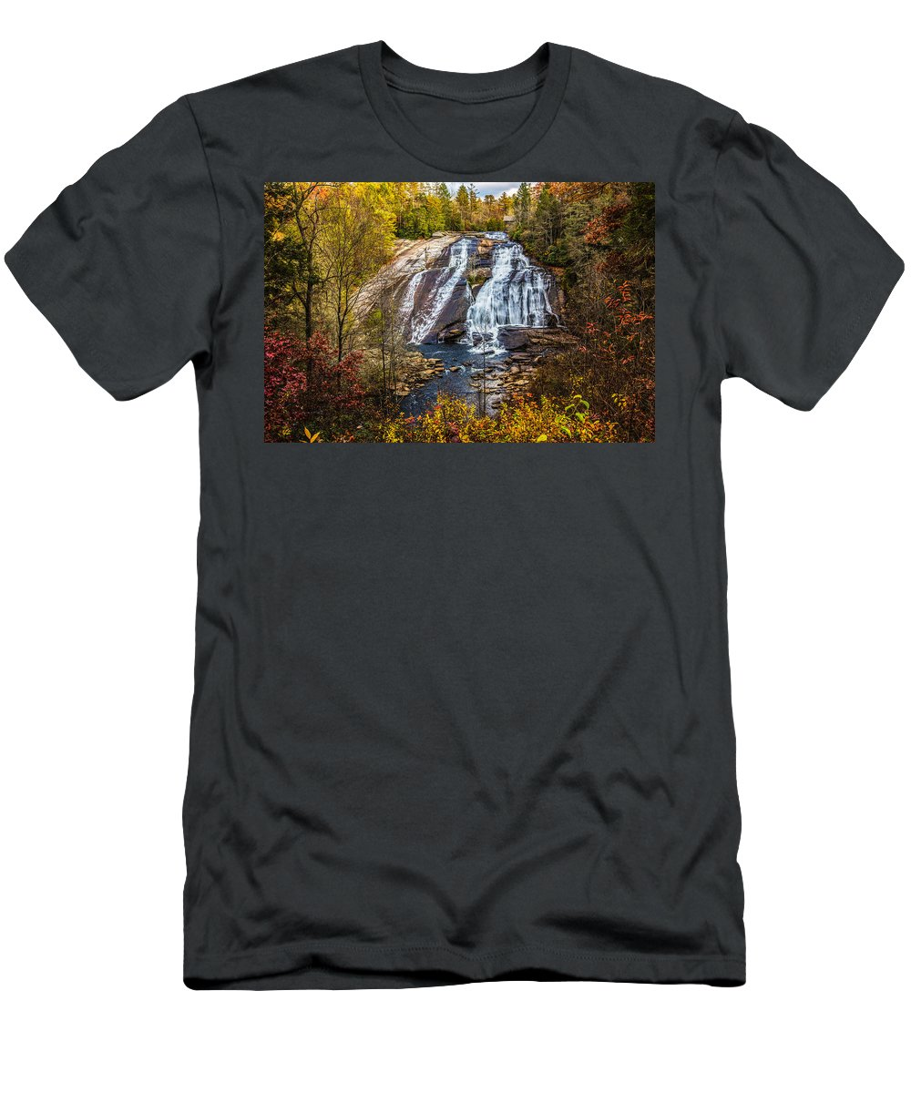 Nc Men's T-Shirt (Athletic Fit) featuring the photograph High Falls by John Haldane