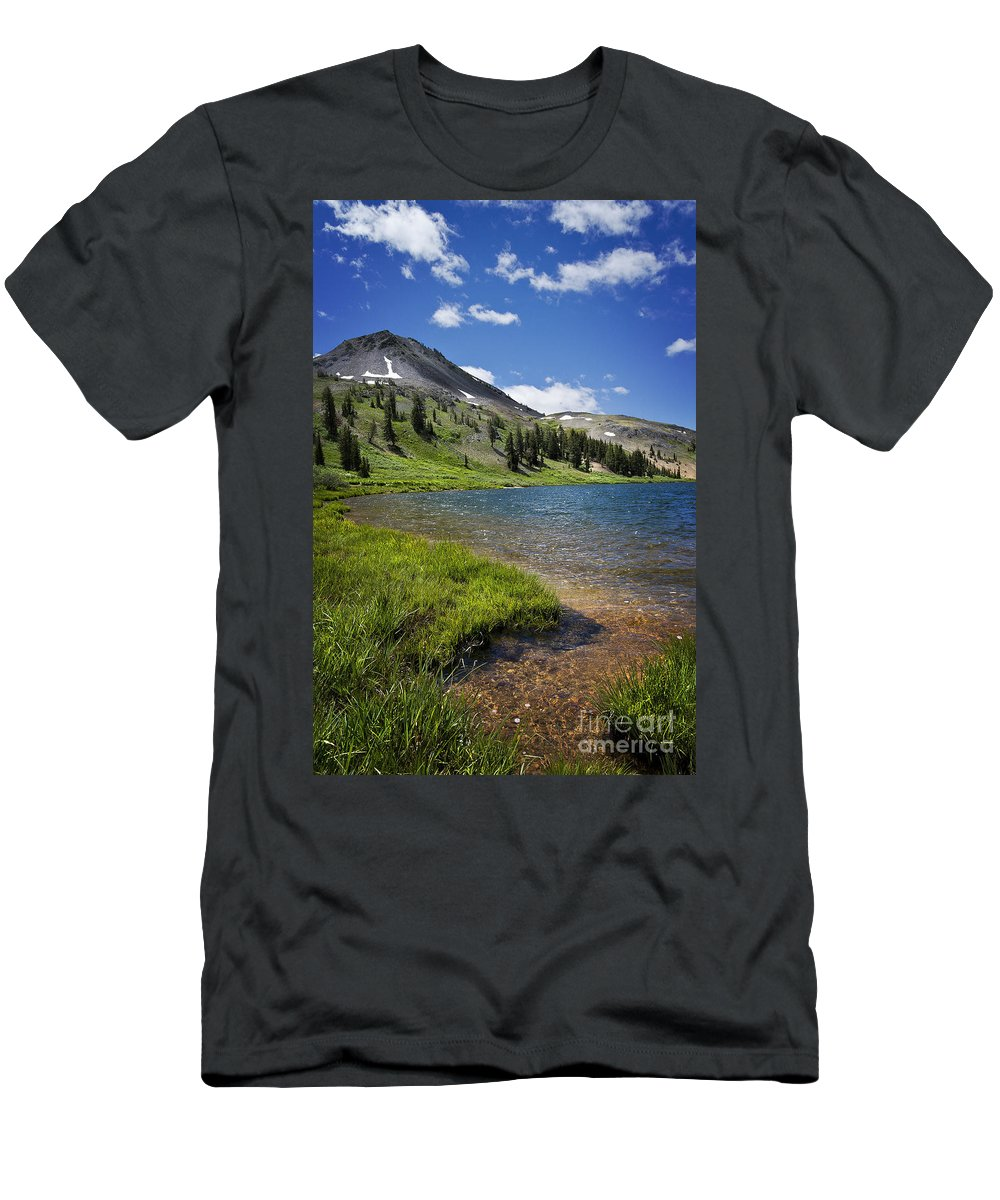 Highland Men's T-Shirt (Athletic Fit) featuring the photograph Highland Lakes by Dianne Phelps