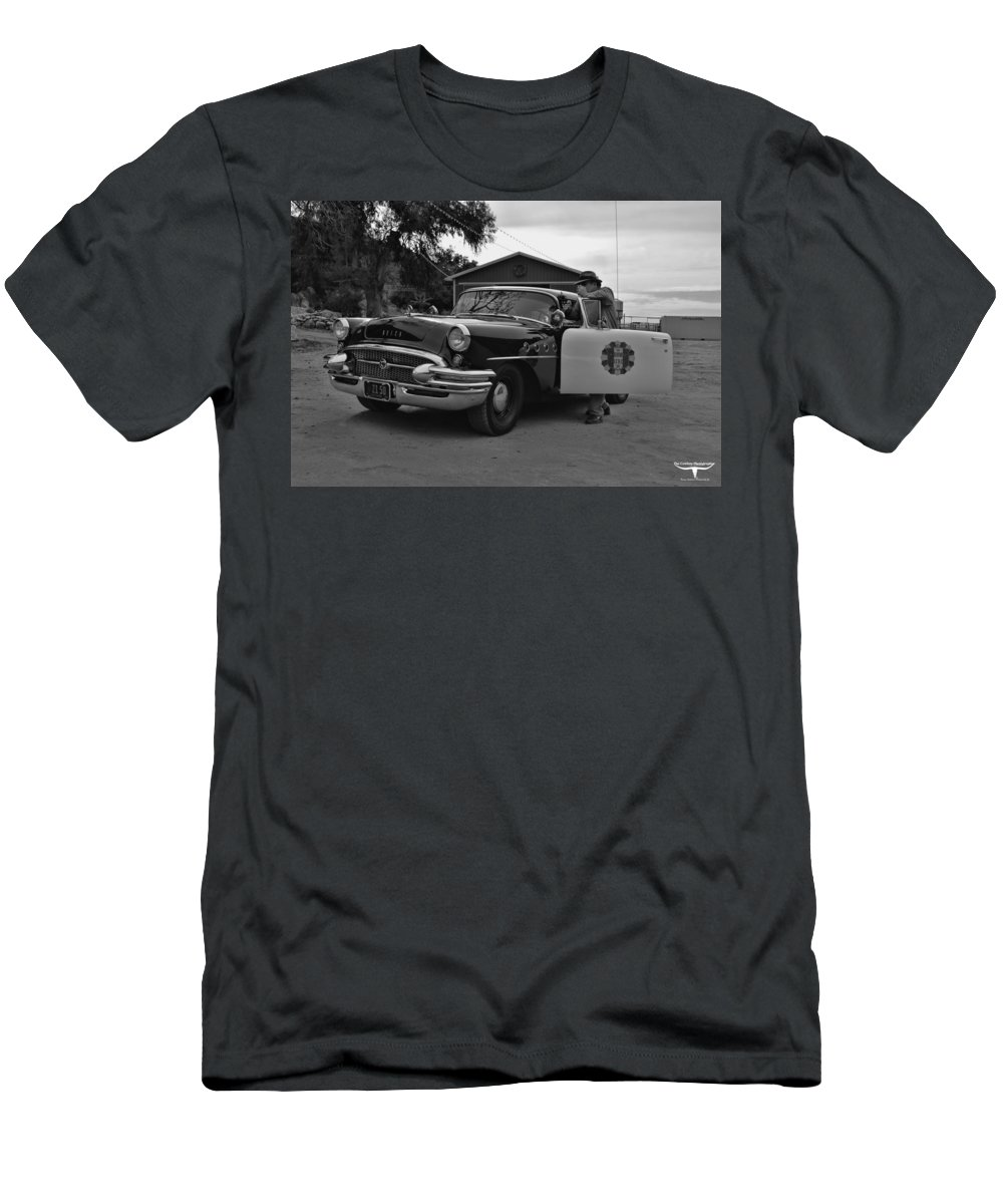 Highway Patrol Men's T-Shirt (Athletic Fit) featuring the photograph Highway Patrol 4 by Tommy Anderson