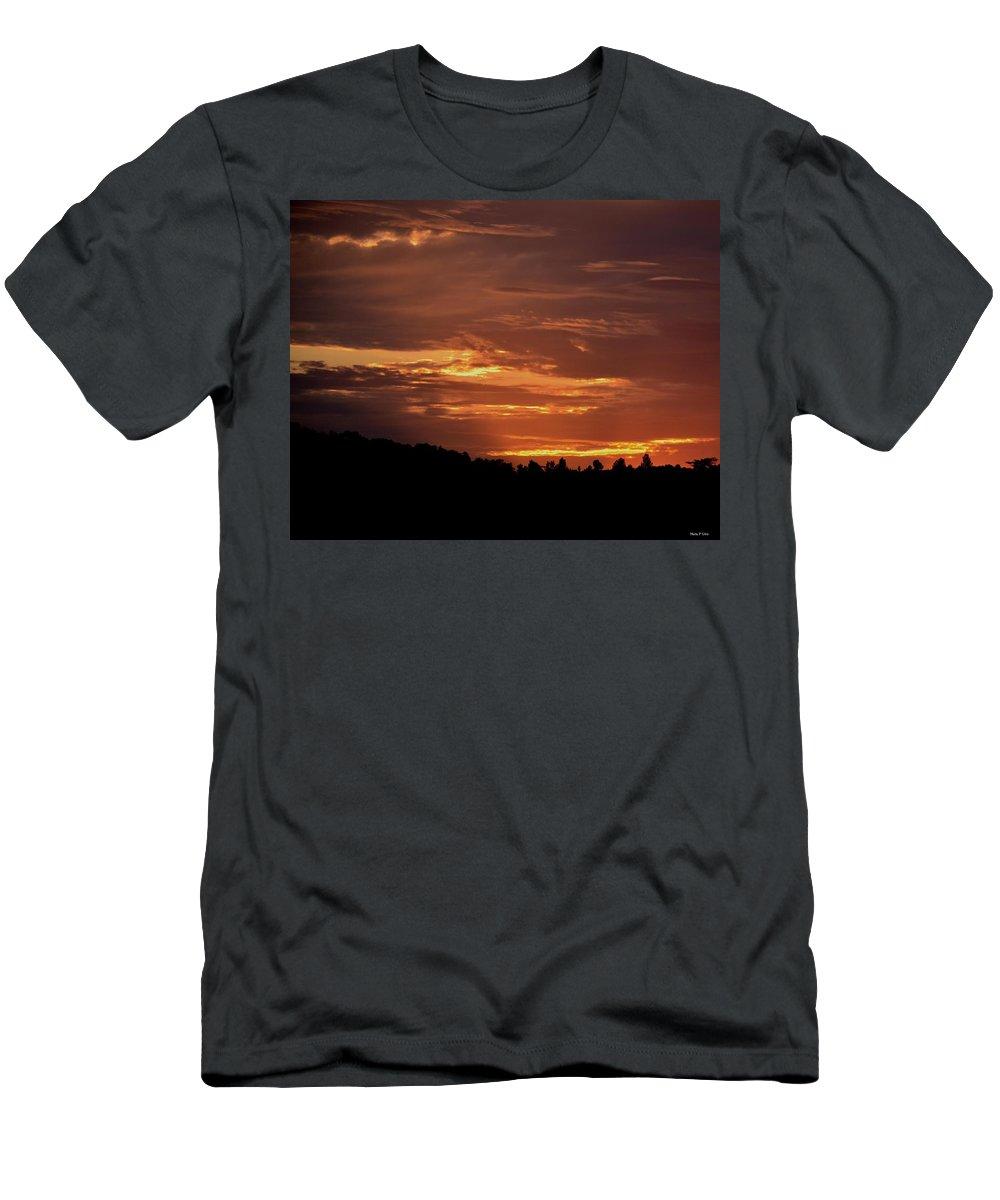 Hill Country Sunrise Men's T-Shirt (Athletic Fit) featuring the photograph Hill Country Sunrise by Maria Urso