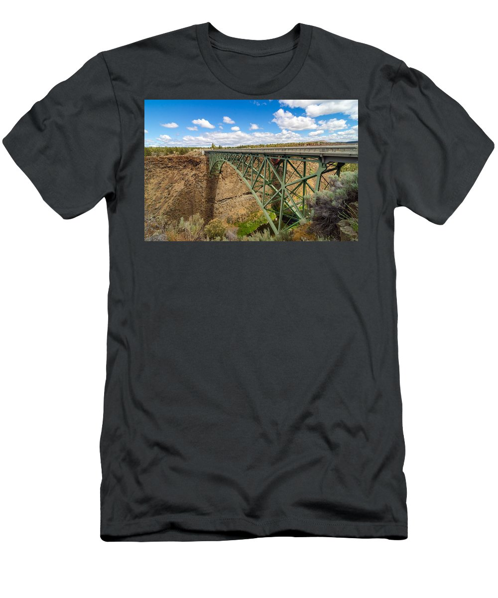 Bridge Men's T-Shirt (Athletic Fit) featuring the photograph Historic Highway Bridge by Jess Kraft