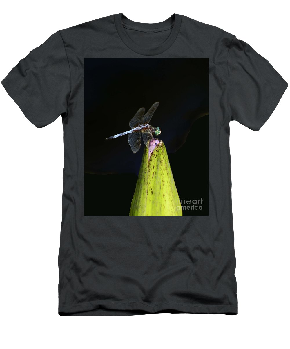Insects Men's T-Shirt (Athletic Fit) featuring the photograph Holding On by Cindy Manero