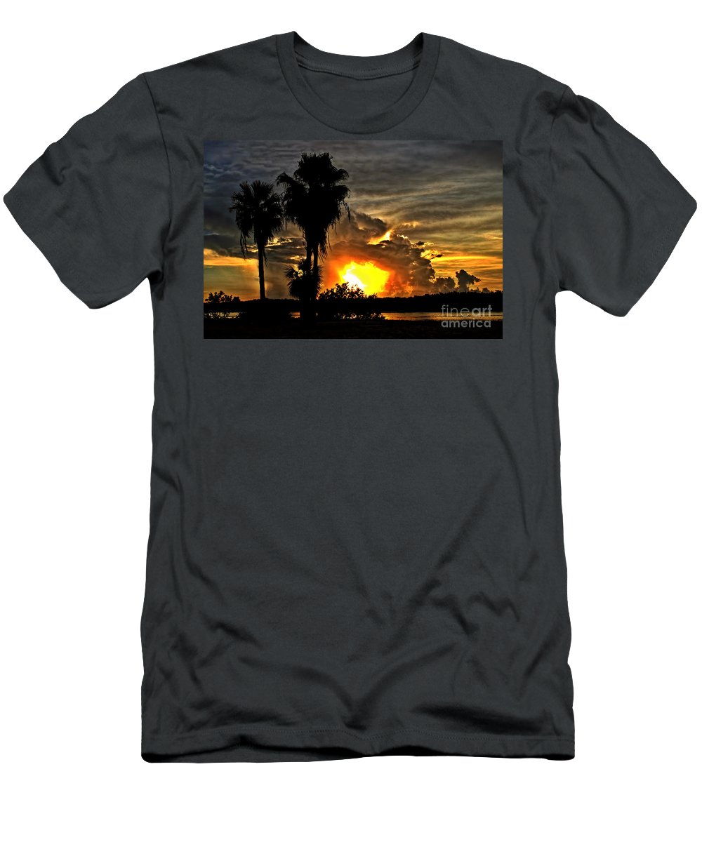 Sunsets Men's T-Shirt (Athletic Fit) featuring the photograph Hole In The Sky by Richard Gripp