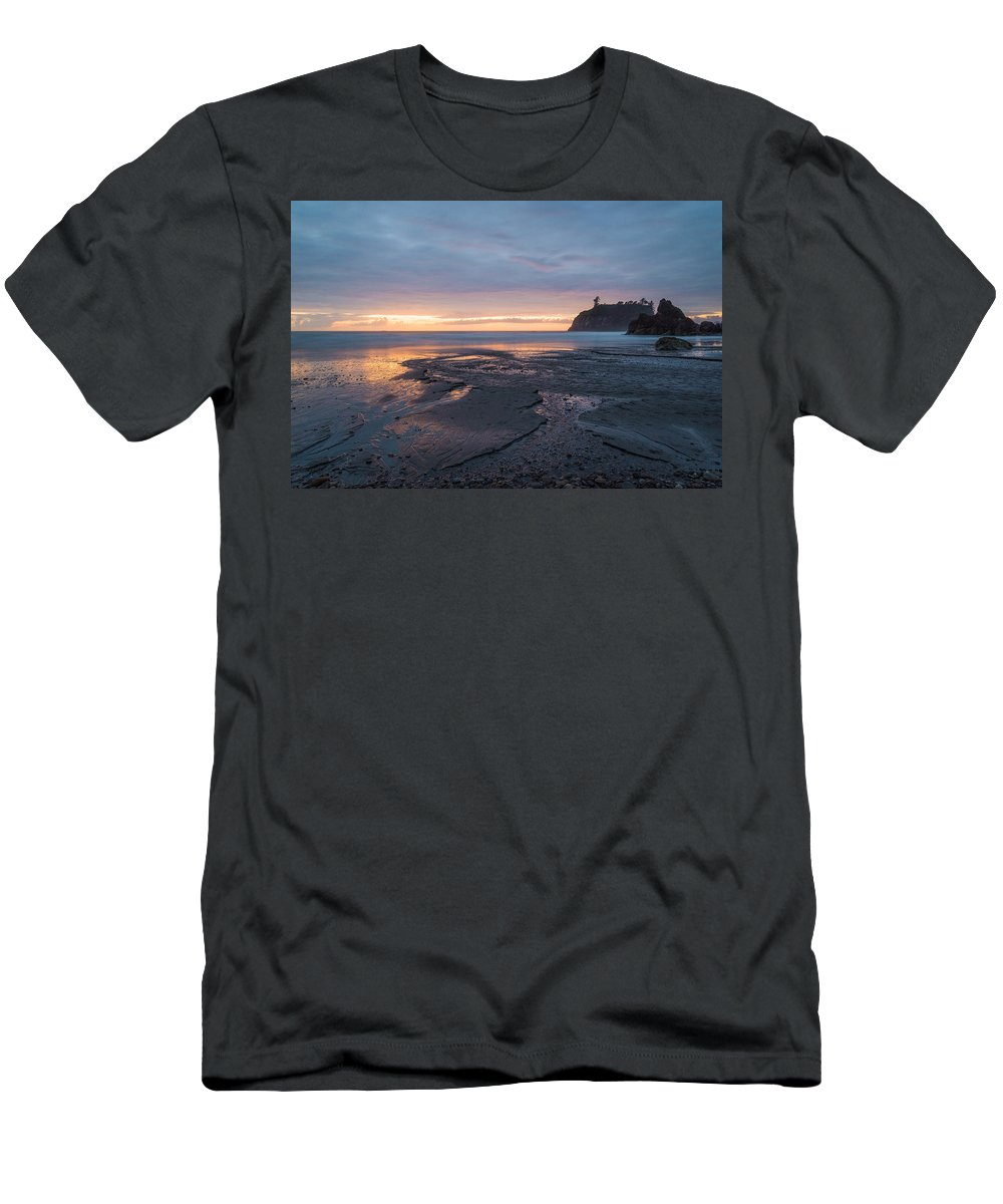 Olympic National Park Men's T-Shirt (Athletic Fit) featuring the photograph Holy Endings by Kristopher Schoenleber