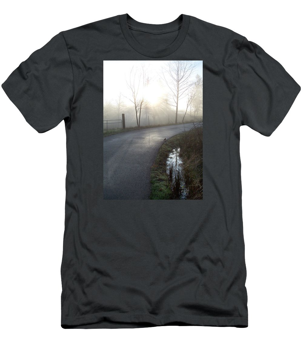 Road Home Men's T-Shirt (Athletic Fit) featuring the photograph Home Again by Blythe Ayne