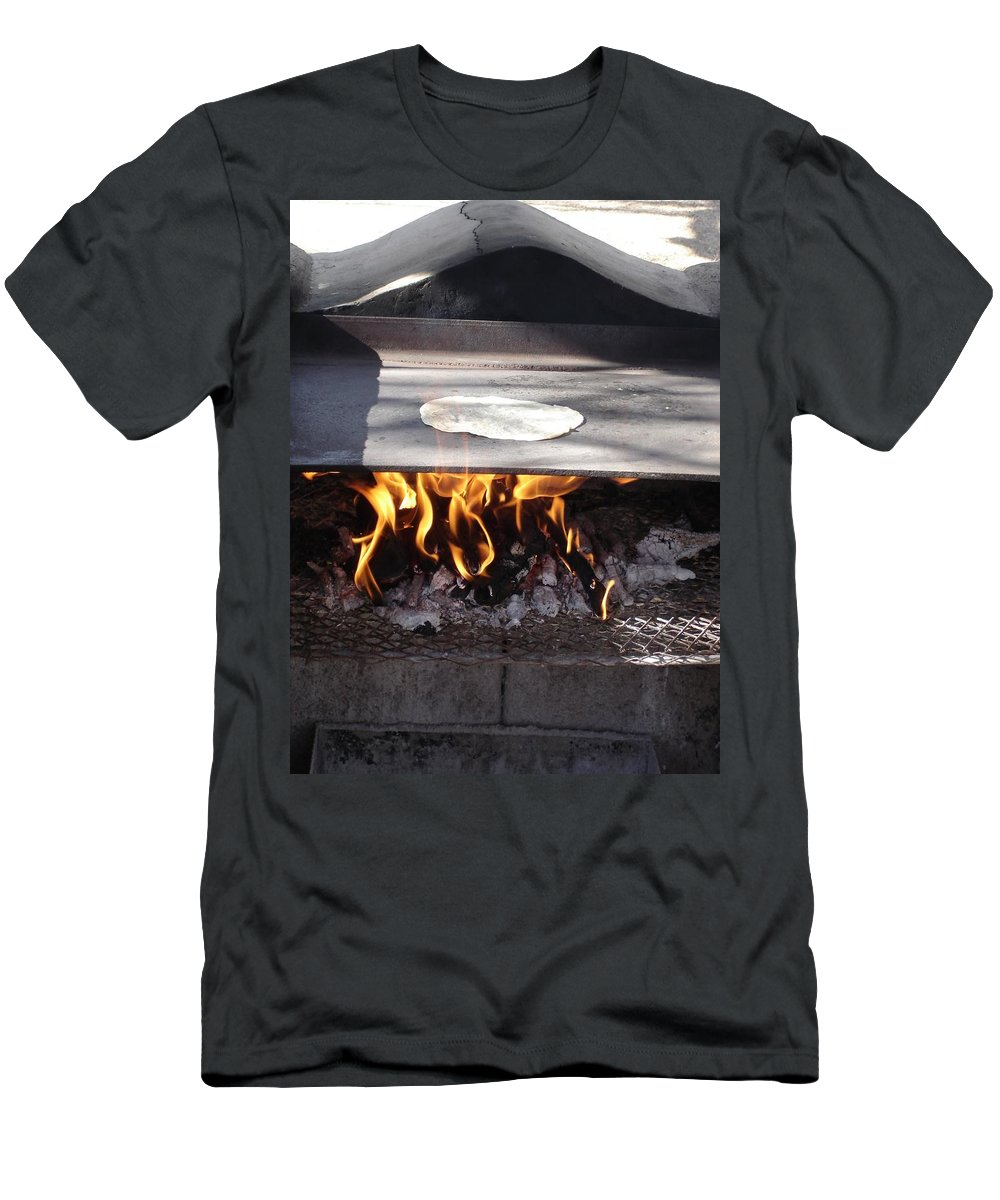 Tortillas Men's T-Shirt (Athletic Fit) featuring the photograph Homemade Tortillas by Kerri Mortenson