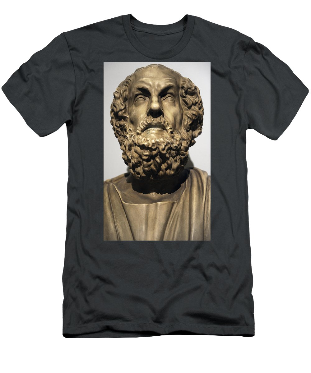 Homer Men's T-Shirt (Athletic Fit) featuring the photograph Homer by Greek School
