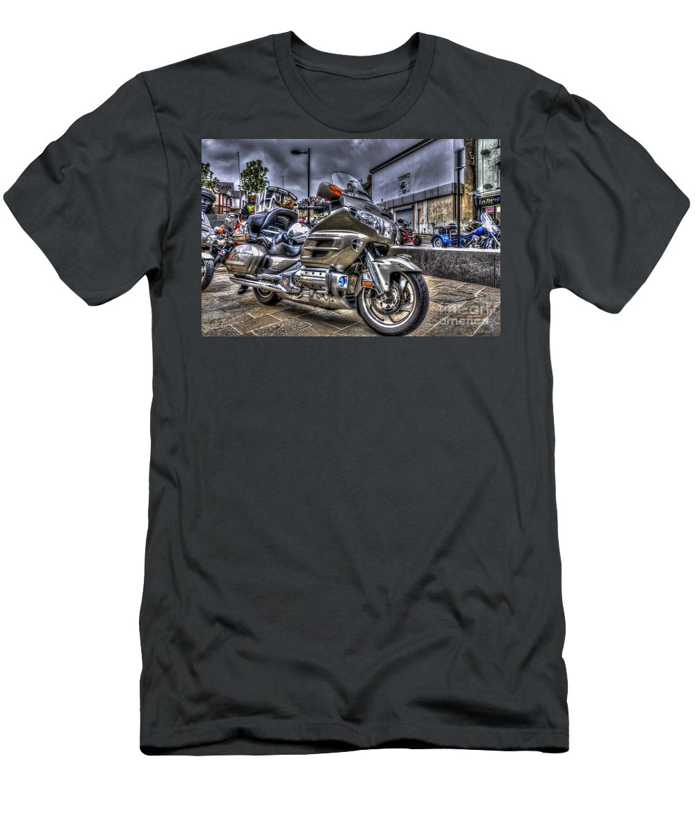 Honda Goldwing Men's T-Shirt (Athletic Fit) featuring the photograph Honda Goldwing 2 by Steve Purnell