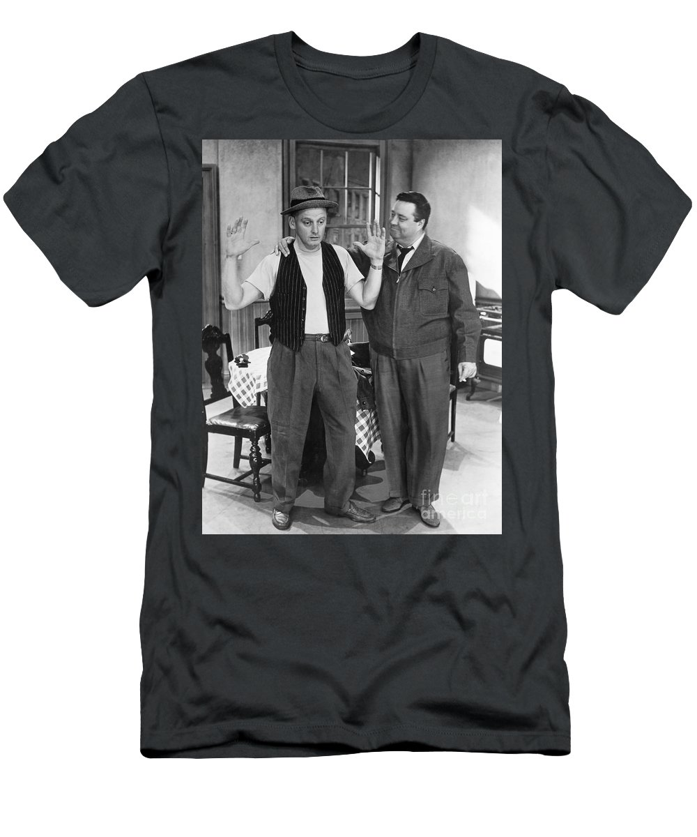 1955 Men's T-Shirt (Athletic Fit) featuring the photograph Honeymooners by Granger