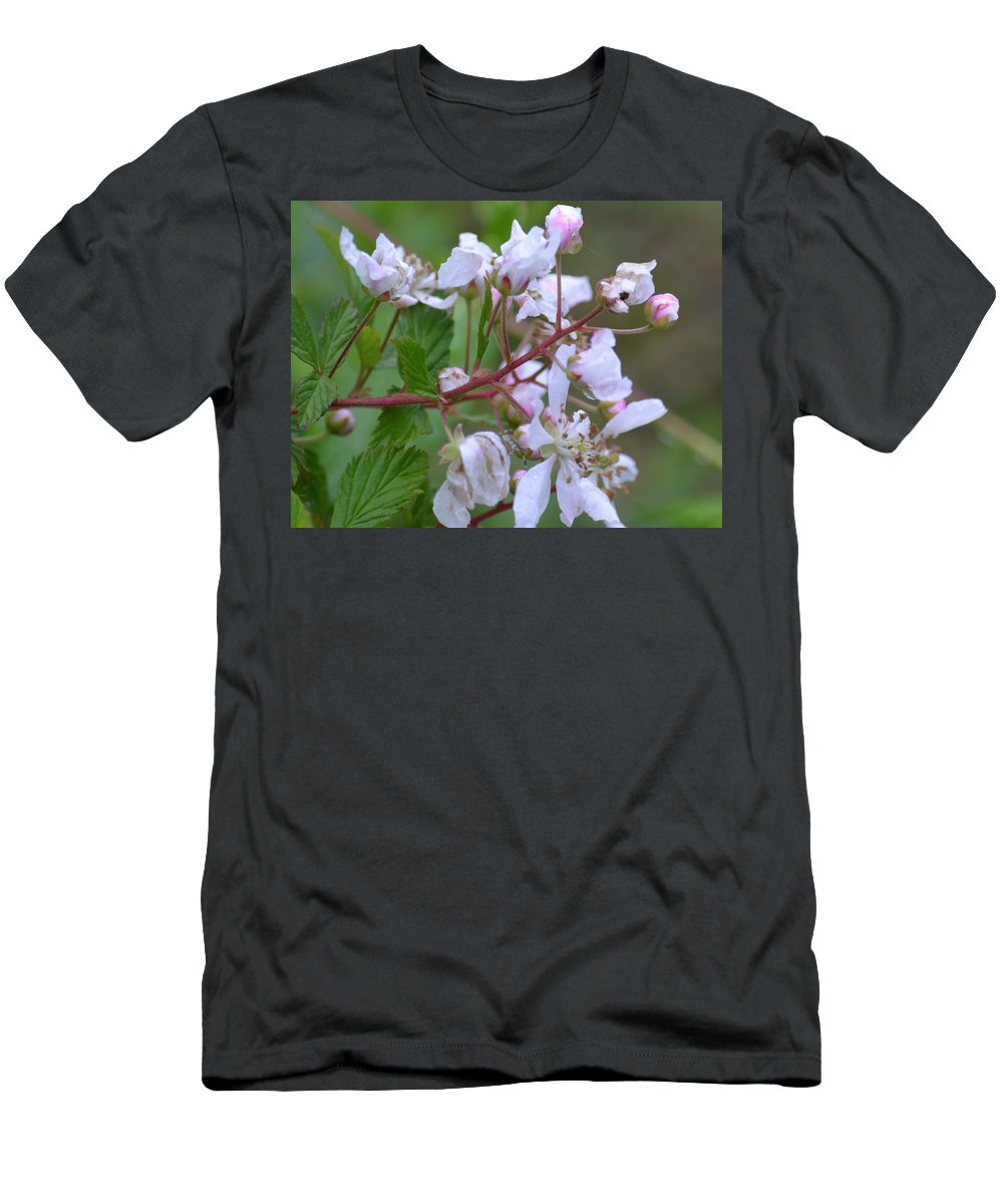 Honeysuckle Blossoms 2 Men's T-Shirt (Athletic Fit) featuring the photograph Honeysuckle Blossoms 2 by Maria Urso