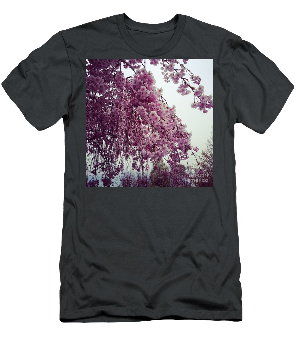 hopeful Spring Men's T-Shirt (Athletic Fit) featuring the photograph Hopeful Spring by Amanda Barcon