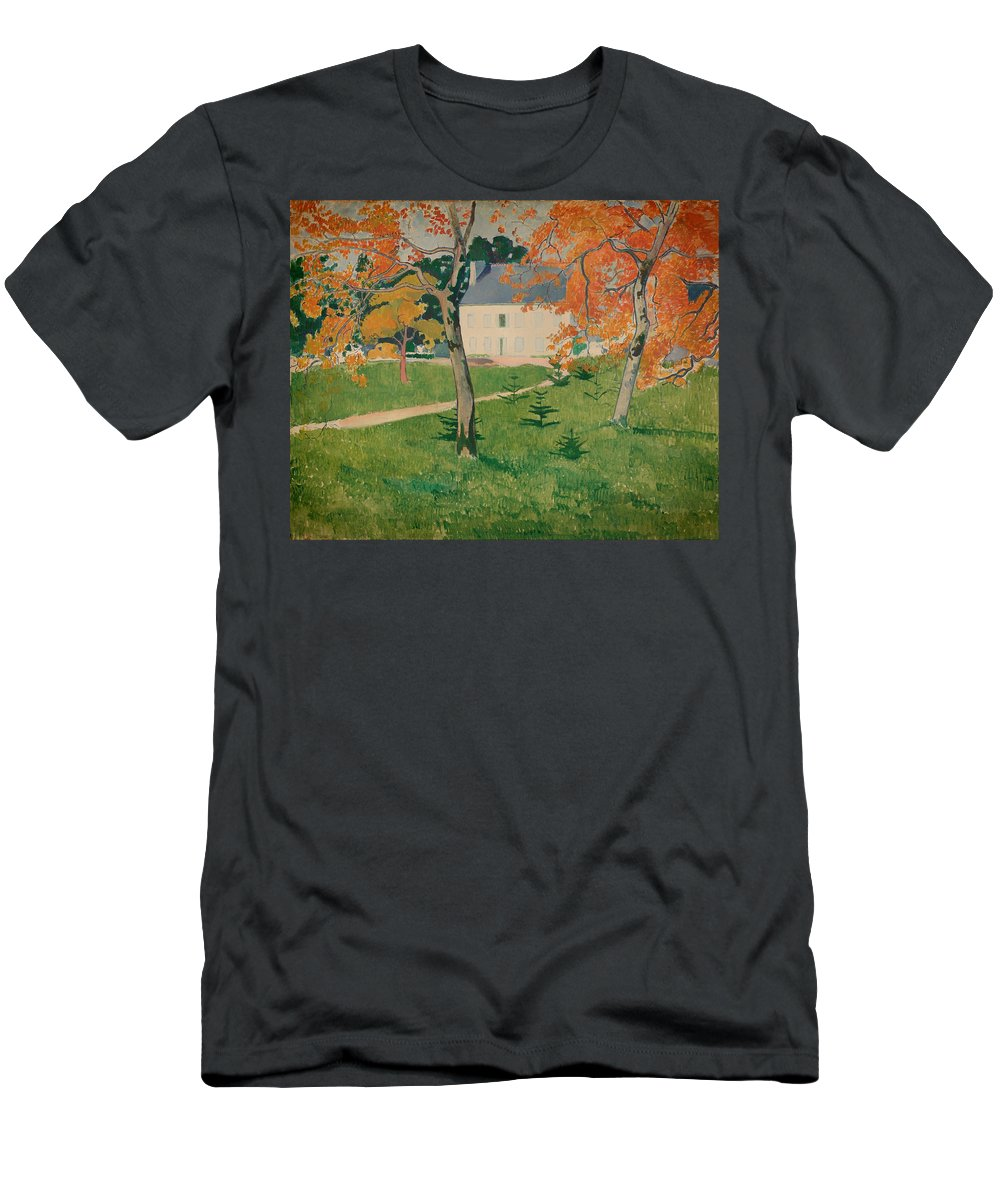 Painting Men's T-Shirt (Athletic Fit) featuring the painting House Among Trees by Mountain Dreams