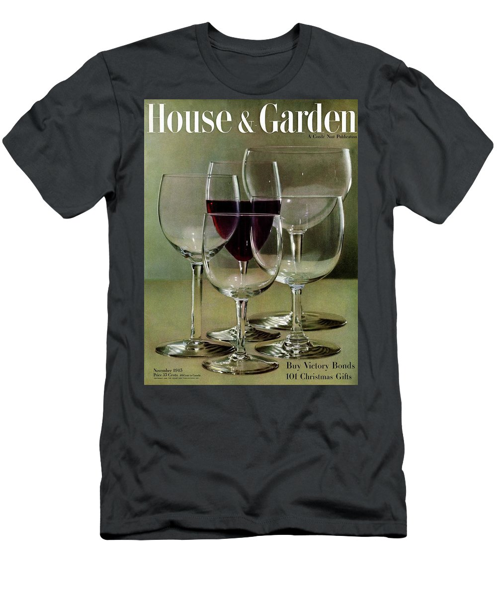 House And Garden Men's T-Shirt (Athletic Fit) featuring the photograph House And Garden Cover by Haanel Cassidy