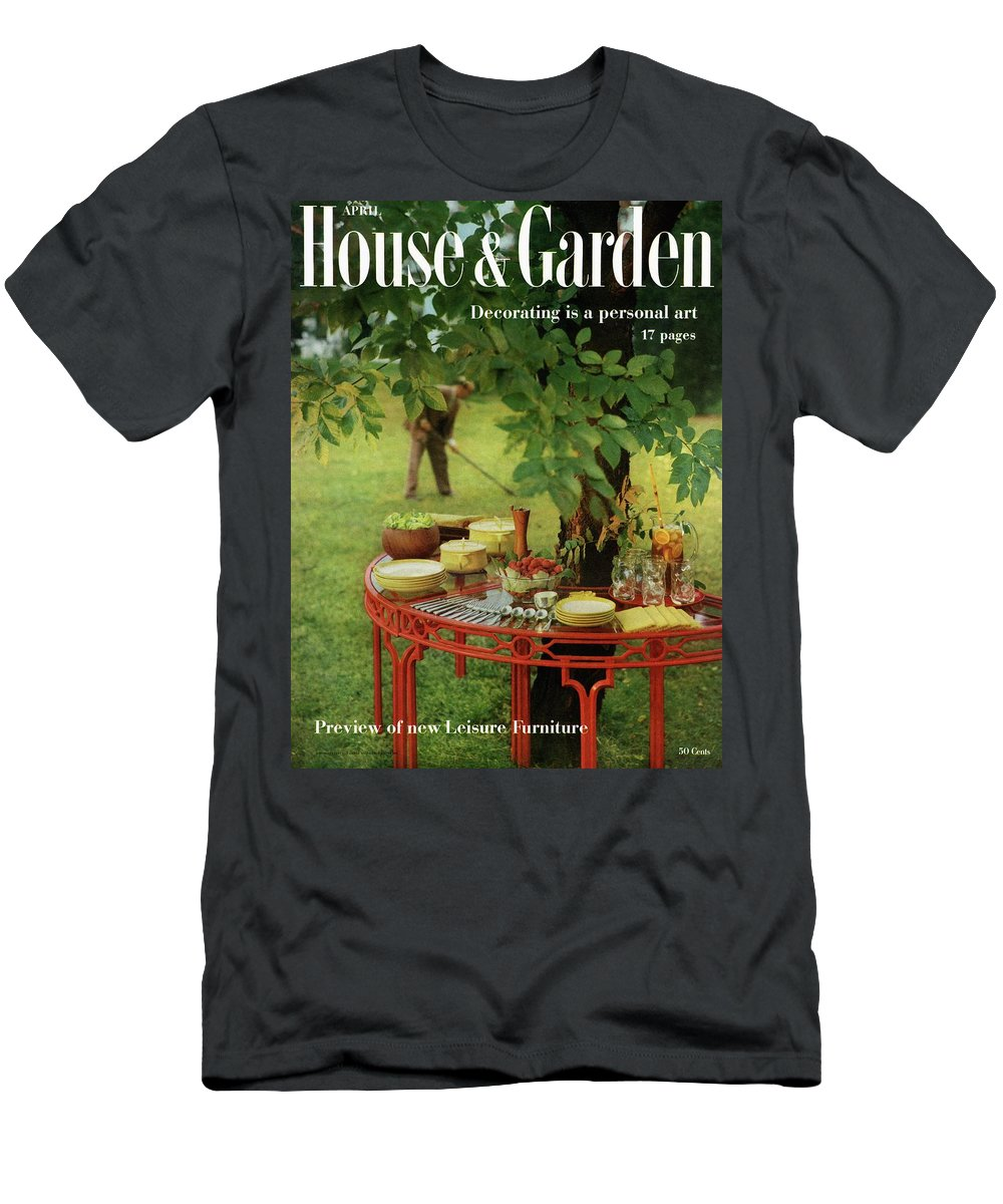 Landscape T-Shirt featuring the photograph House And Garden Cover by Horst P. Horst