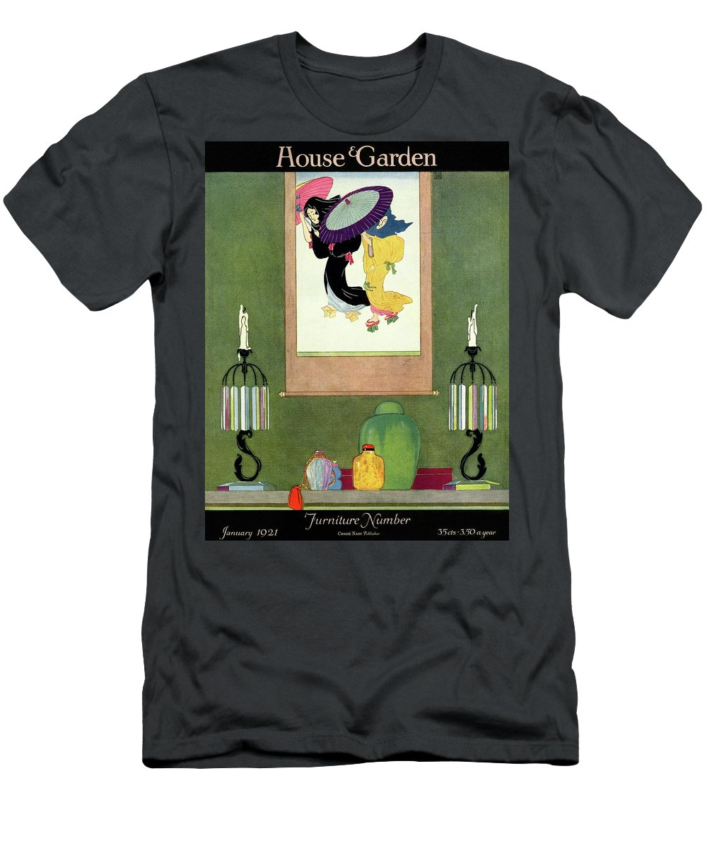House And Garden Men's T-Shirt (Athletic Fit) featuring the photograph House And Garden Furniture Number by Harry Richardson