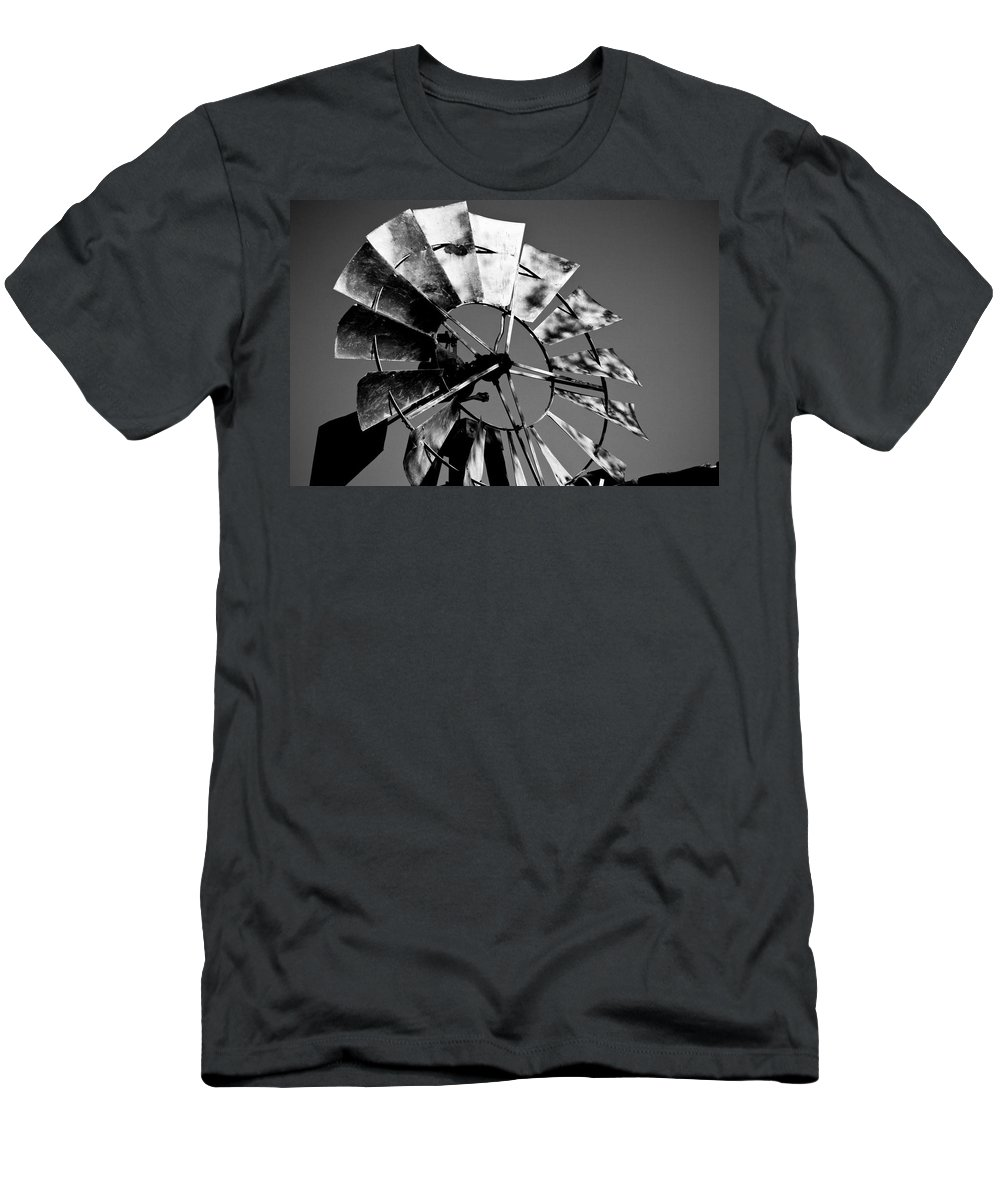 Windmill Men's T-Shirt (Athletic Fit) featuring the photograph How The West Was Won by Roger Passman