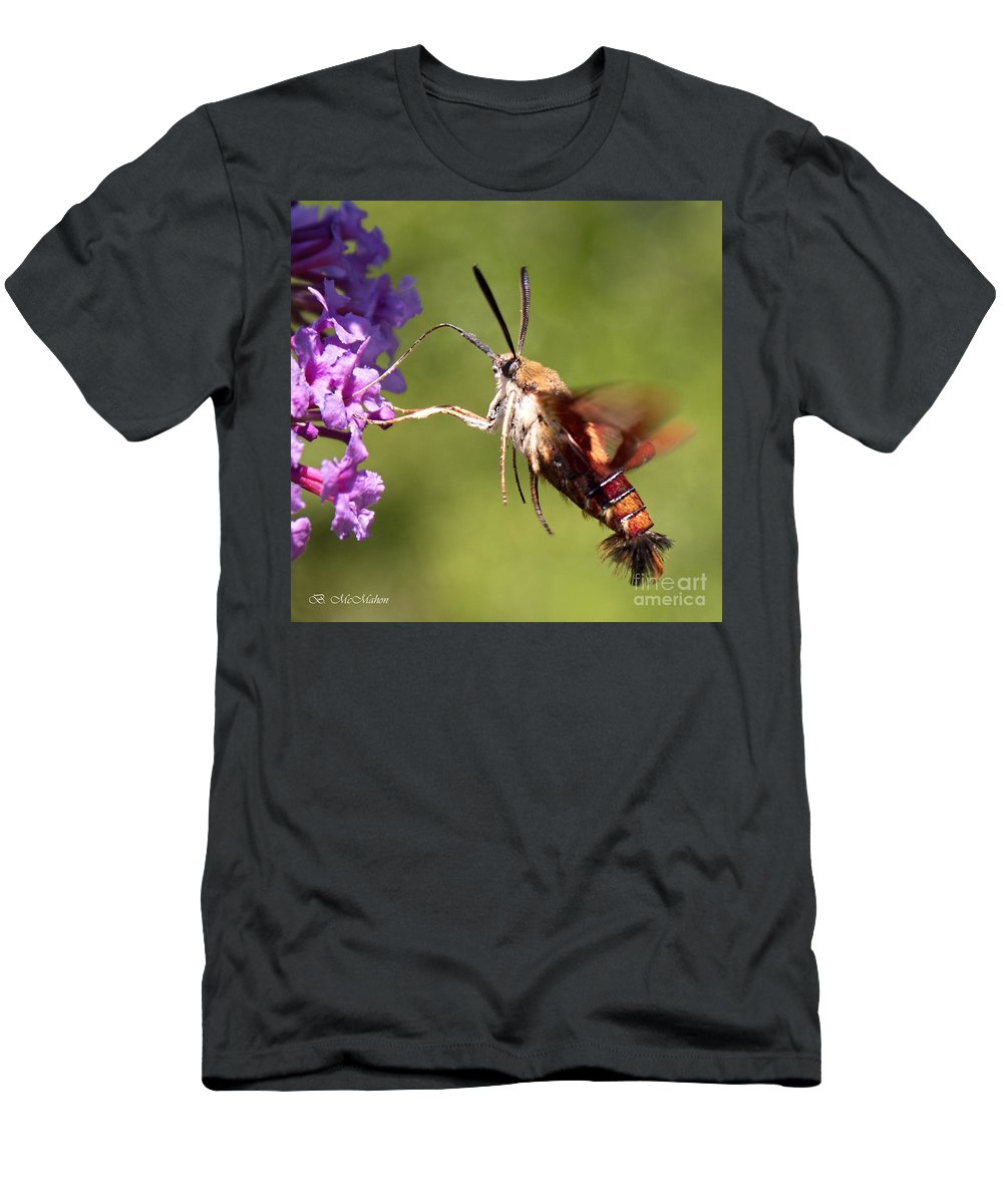 Hummingbird Moth Men's T-Shirt (Athletic Fit) featuring the photograph Hummingbird Moth by Barbara McMahon