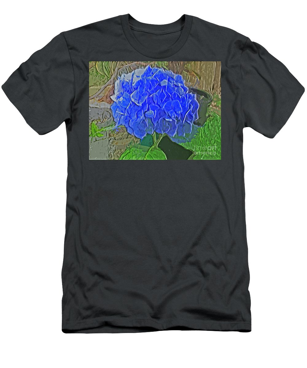 Hydrangea Blues Men's T-Shirt (Athletic Fit) featuring the photograph Hydrangea Blues by Luther Fine Art