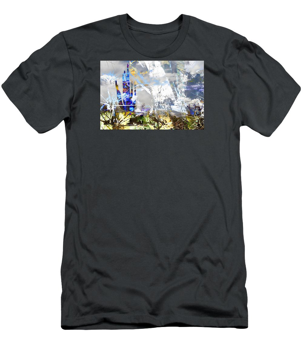 Desert Men's T-Shirt (Athletic Fit) featuring the digital art We Are Life, Liberty And The Pursuit Of Happiness, As We Create Reality Both Individually - Winter 6 by Arthur BRADford Klemmer