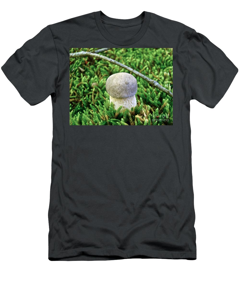 Mushroom Men's T-Shirt (Athletic Fit) featuring the photograph I Am Outstanding by Mother Nature