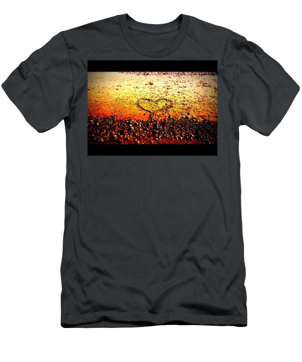 Disc Golf Men's T-Shirt (Athletic Fit) featuring the photograph I Heart You by Alicia Forton